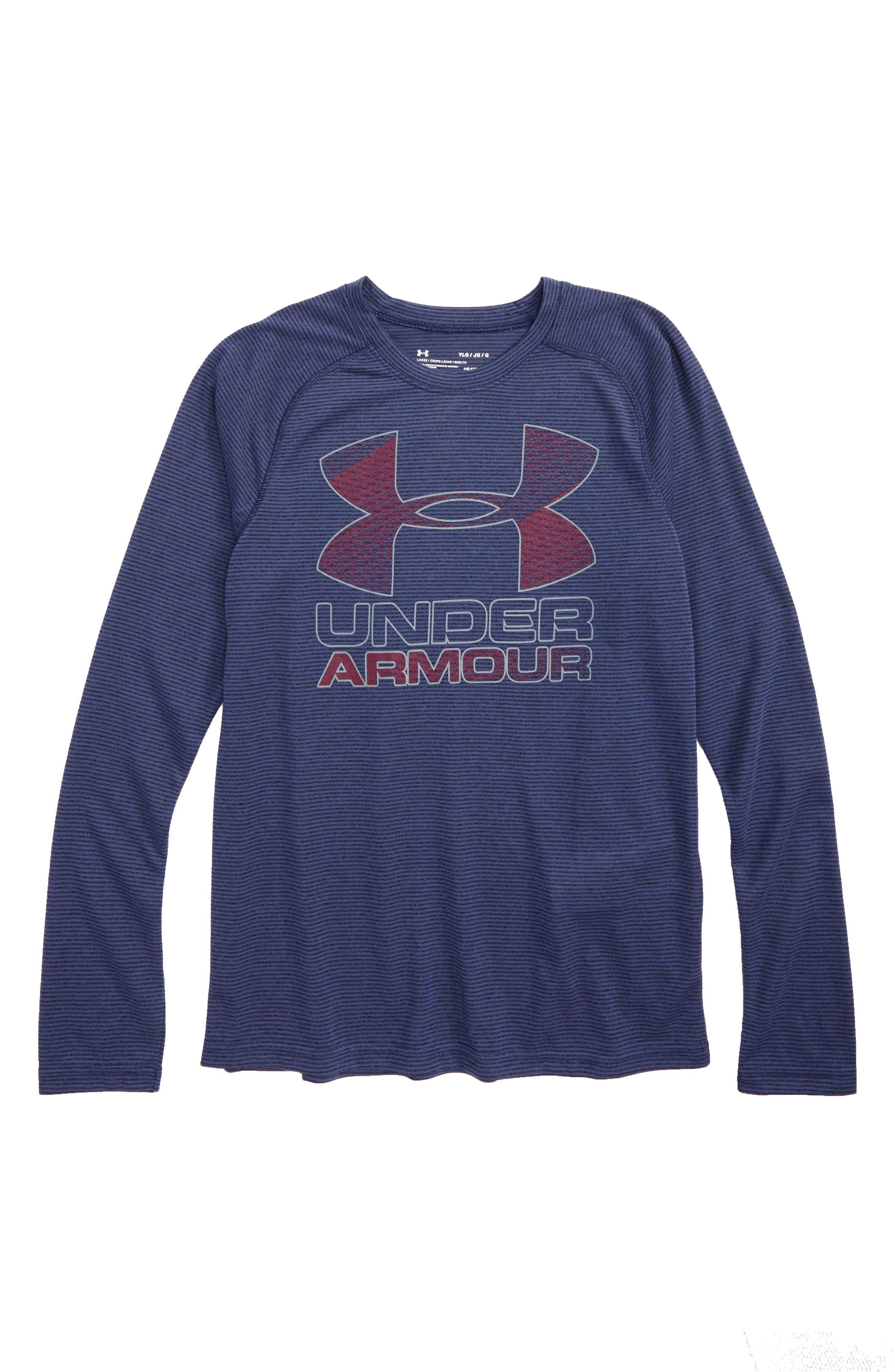Alternate Image 1 Selected - Under Armour Logo Graphic HeatGear® T-Shirt (Little Boys & Big Boys)