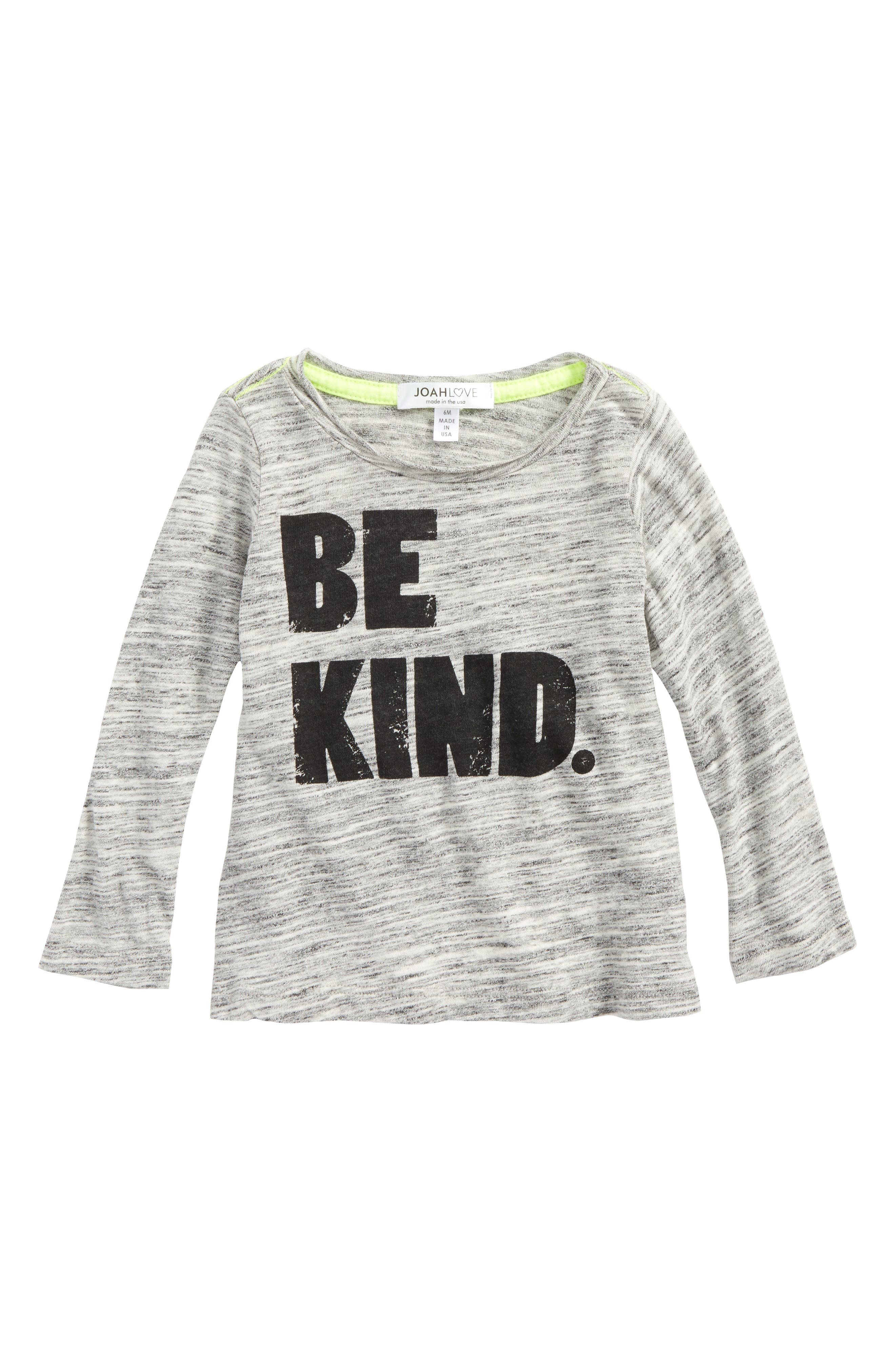 Be Kind Graphic Shirt,                             Main thumbnail 1, color,                             Marble
