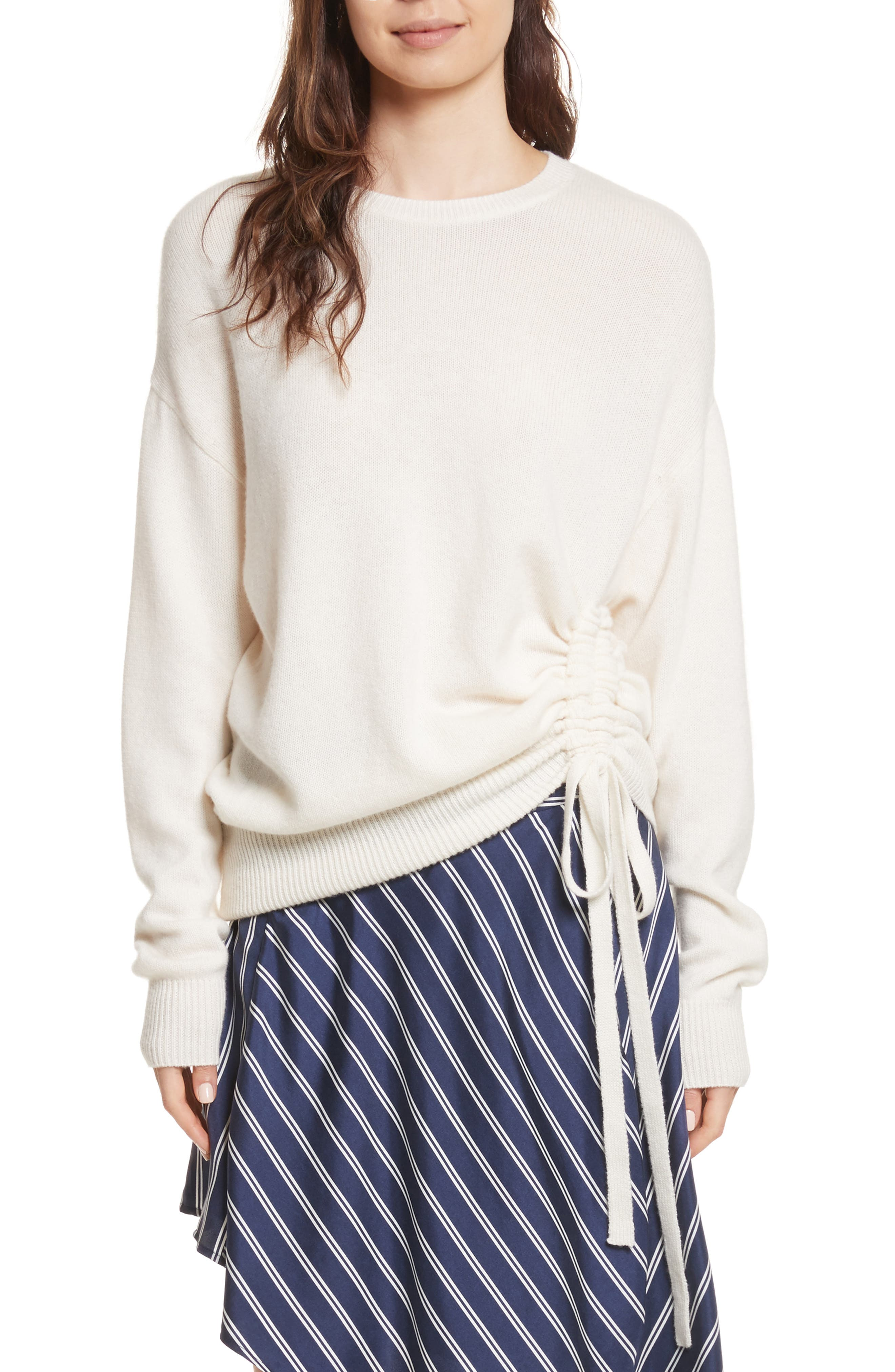 Iphis Wool & Cashmere Sweater,                             Main thumbnail 1, color,                             Porcelain