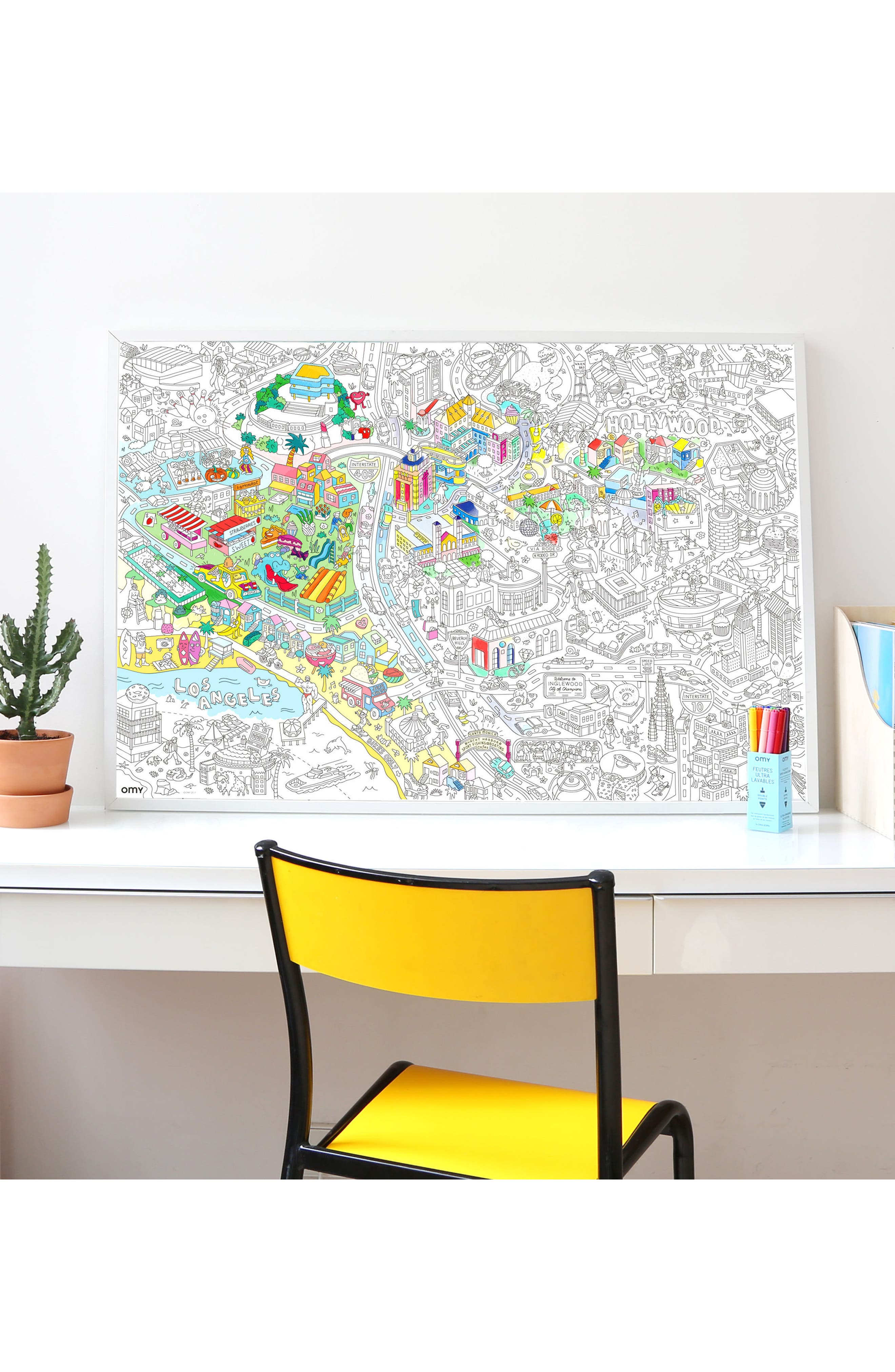 Alternate Image 3  - OMY Los Angeles Giant Coloring Poster