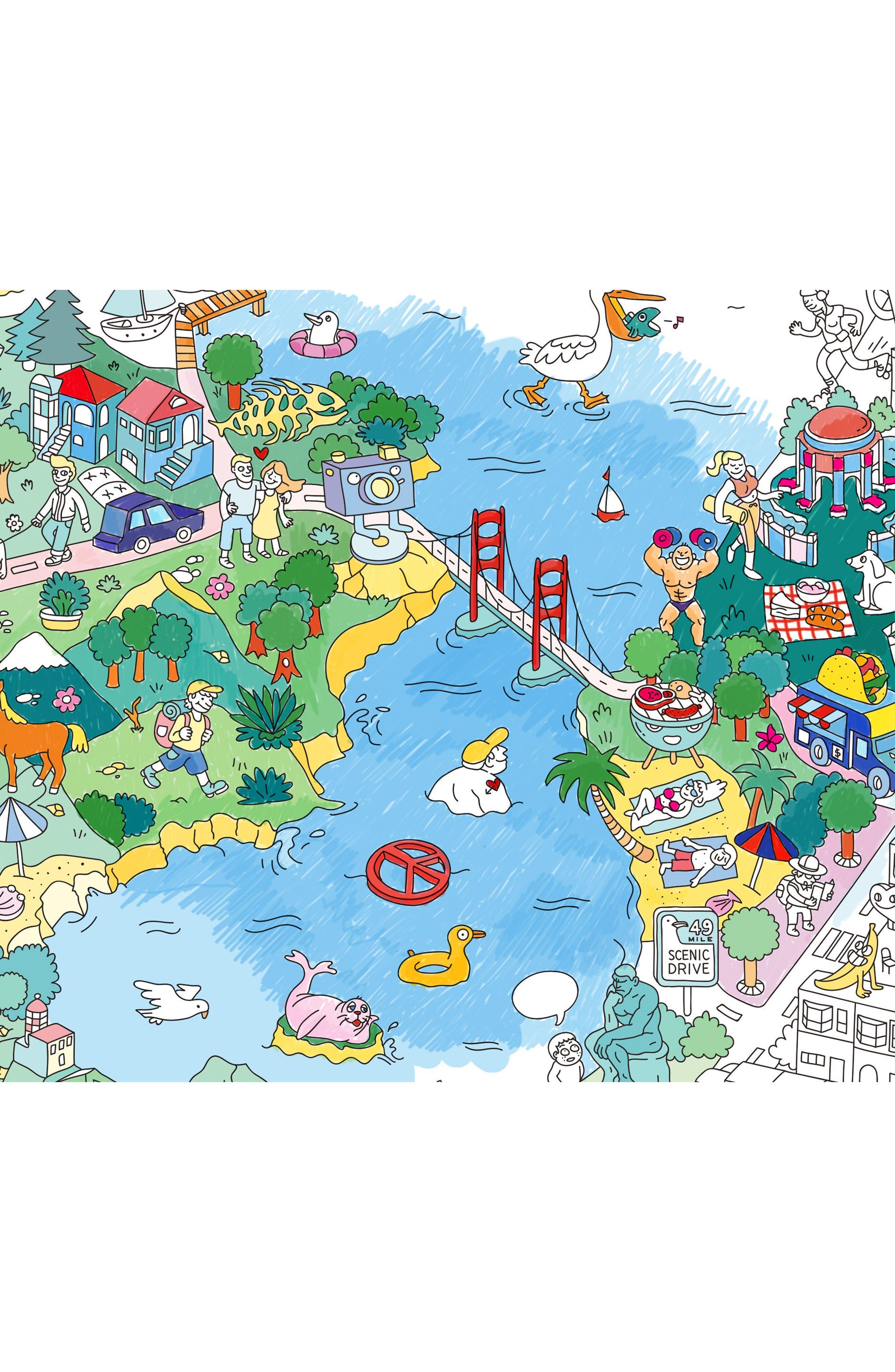 San Francisco Giant Coloring Poster,                             Alternate thumbnail 2, color,                             San Francisco