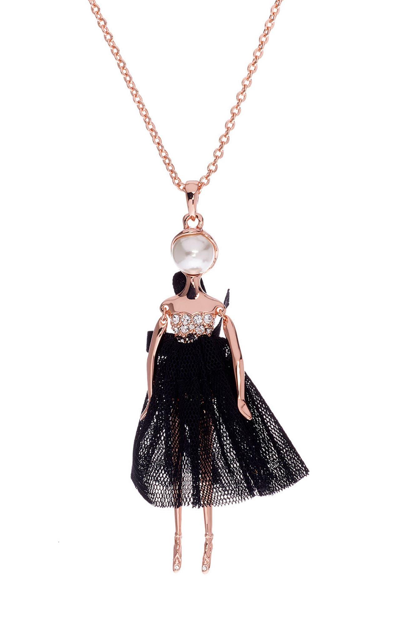 Alternate Image 3  - Ted Baker London Bijou Ballerina Pendant Necklace