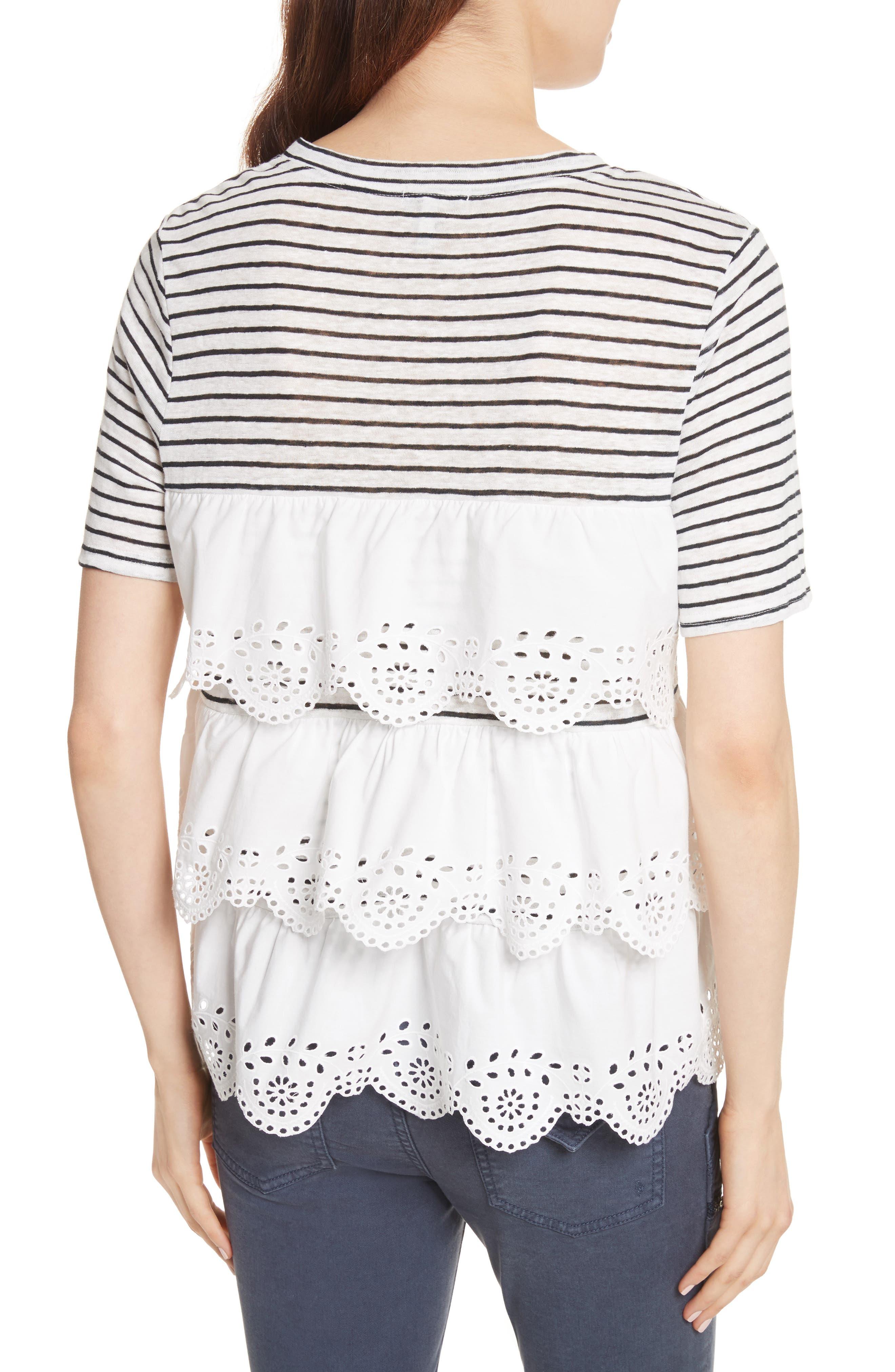 Alternate Image 2  - Joie Mikiyo Stripe Linen Tee