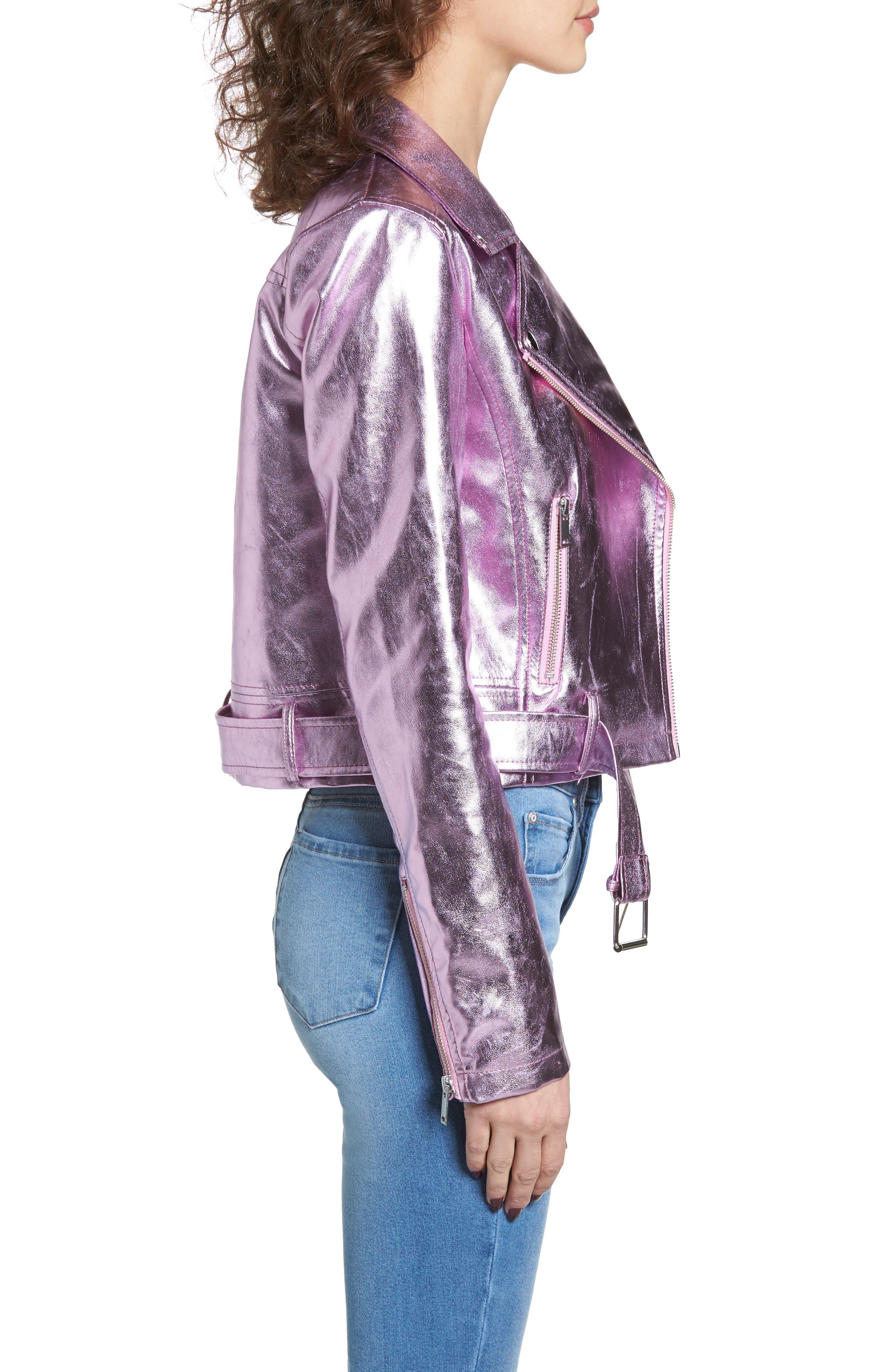Grant Metallic Jacket,                             Alternate thumbnail 3, color,                             Candy