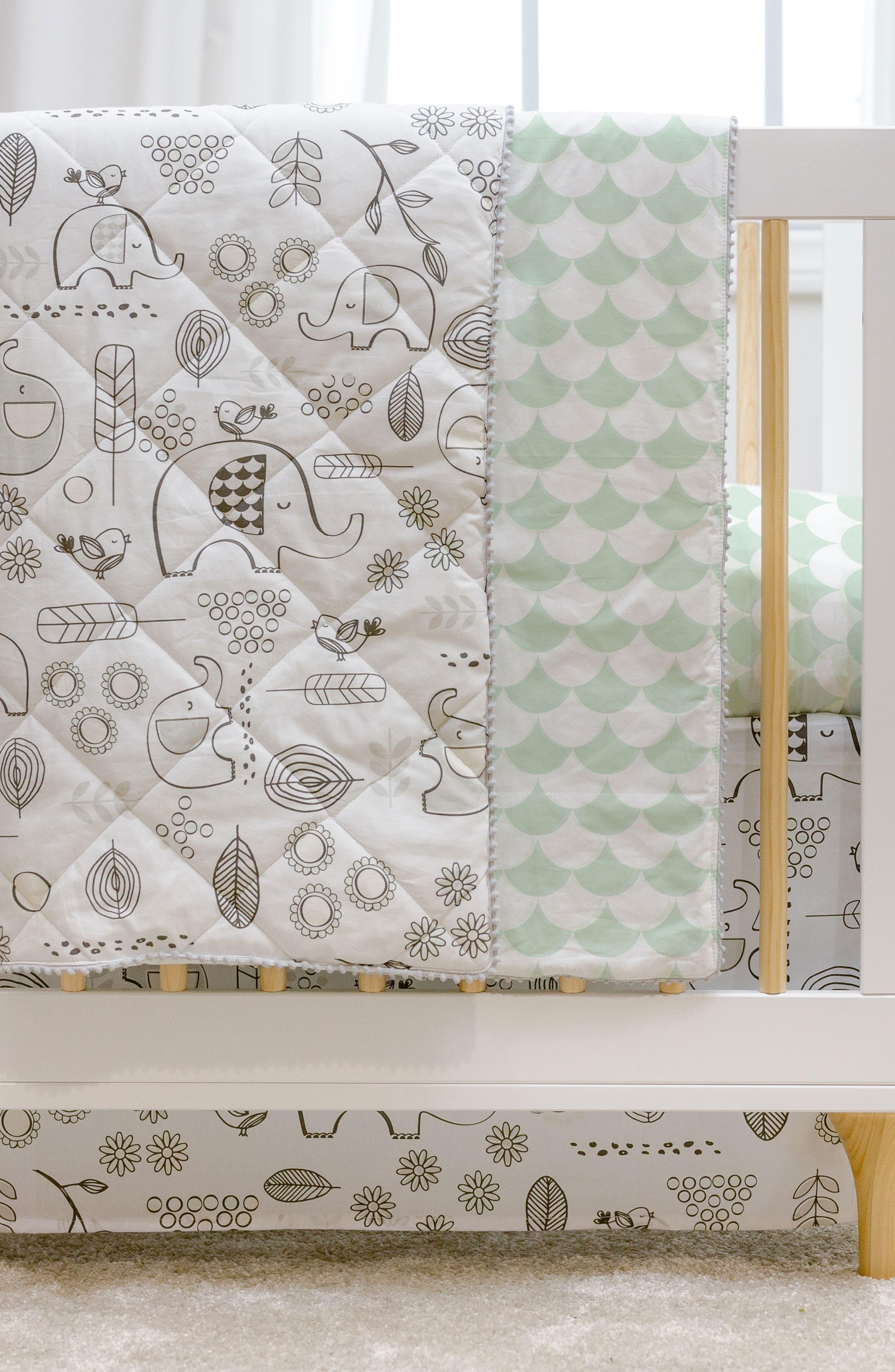 Elle Elephant 4-Piece Crib Bedding Set,                             Alternate thumbnail 2, color,                             Kayden - Elle Elephant