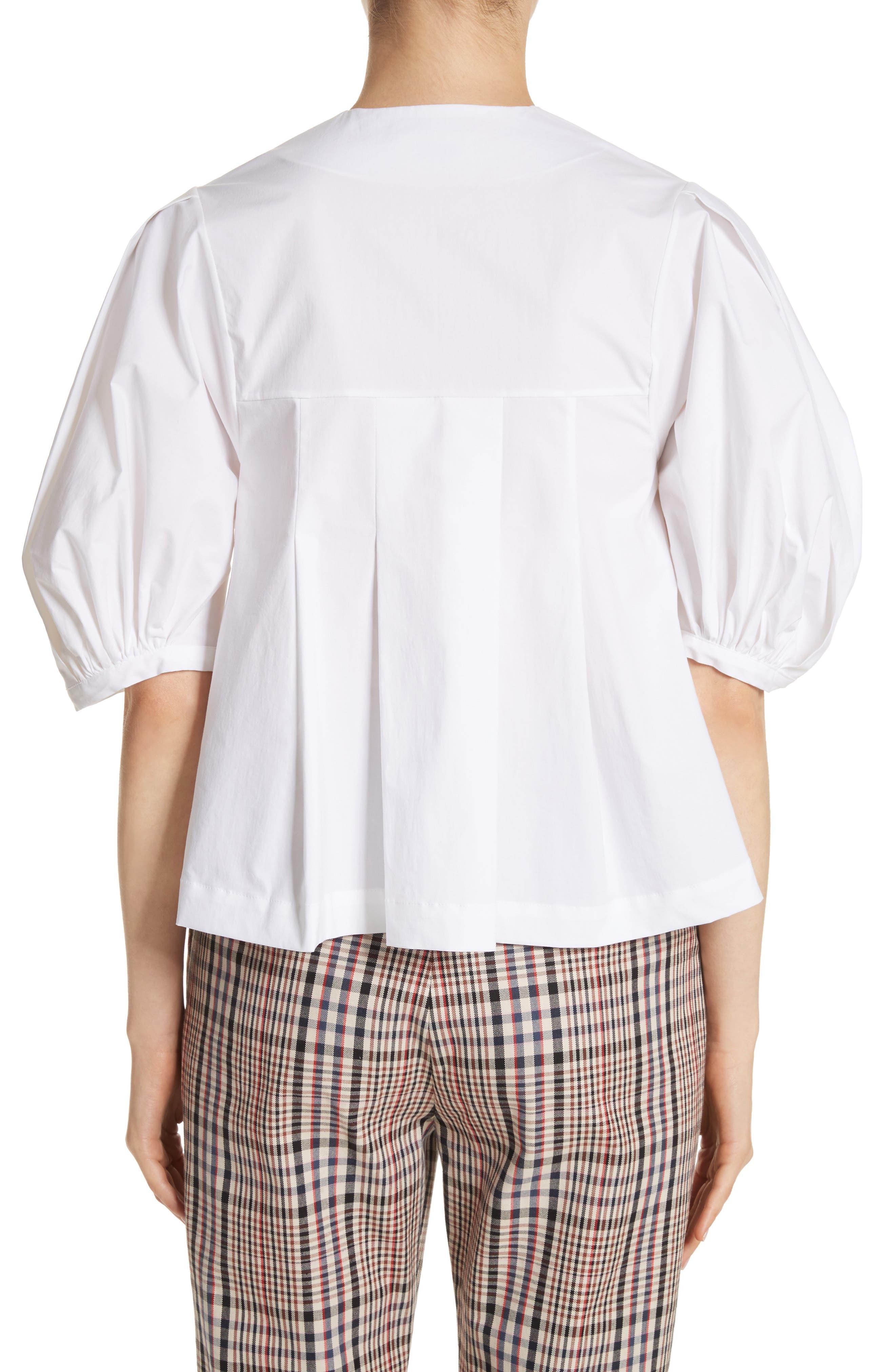 Alternate Image 2  - Isa Arfen Puff Sleeve Button Front Top