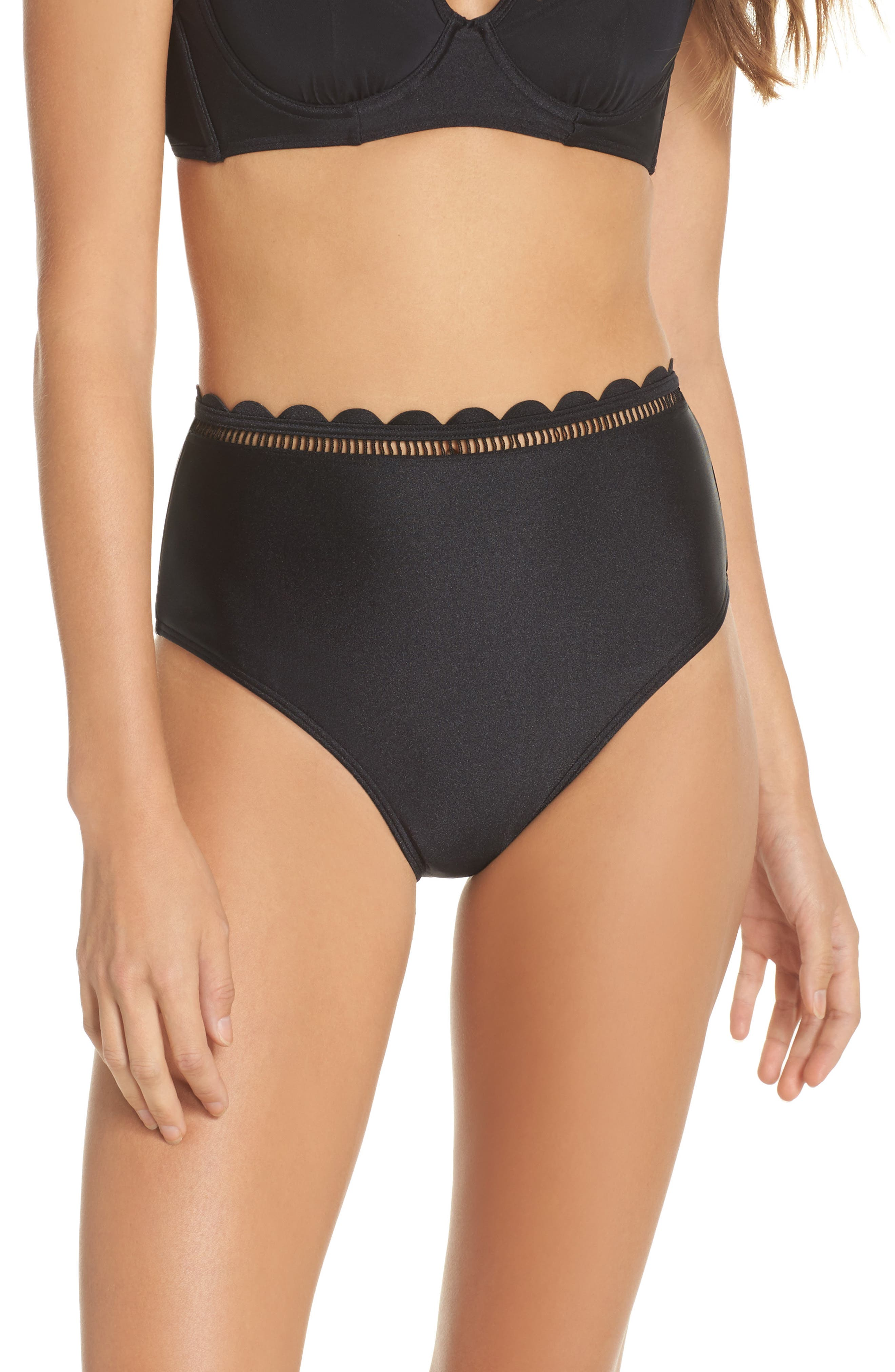 Ted Baker London Scallop High Waist Bikini Bottoms