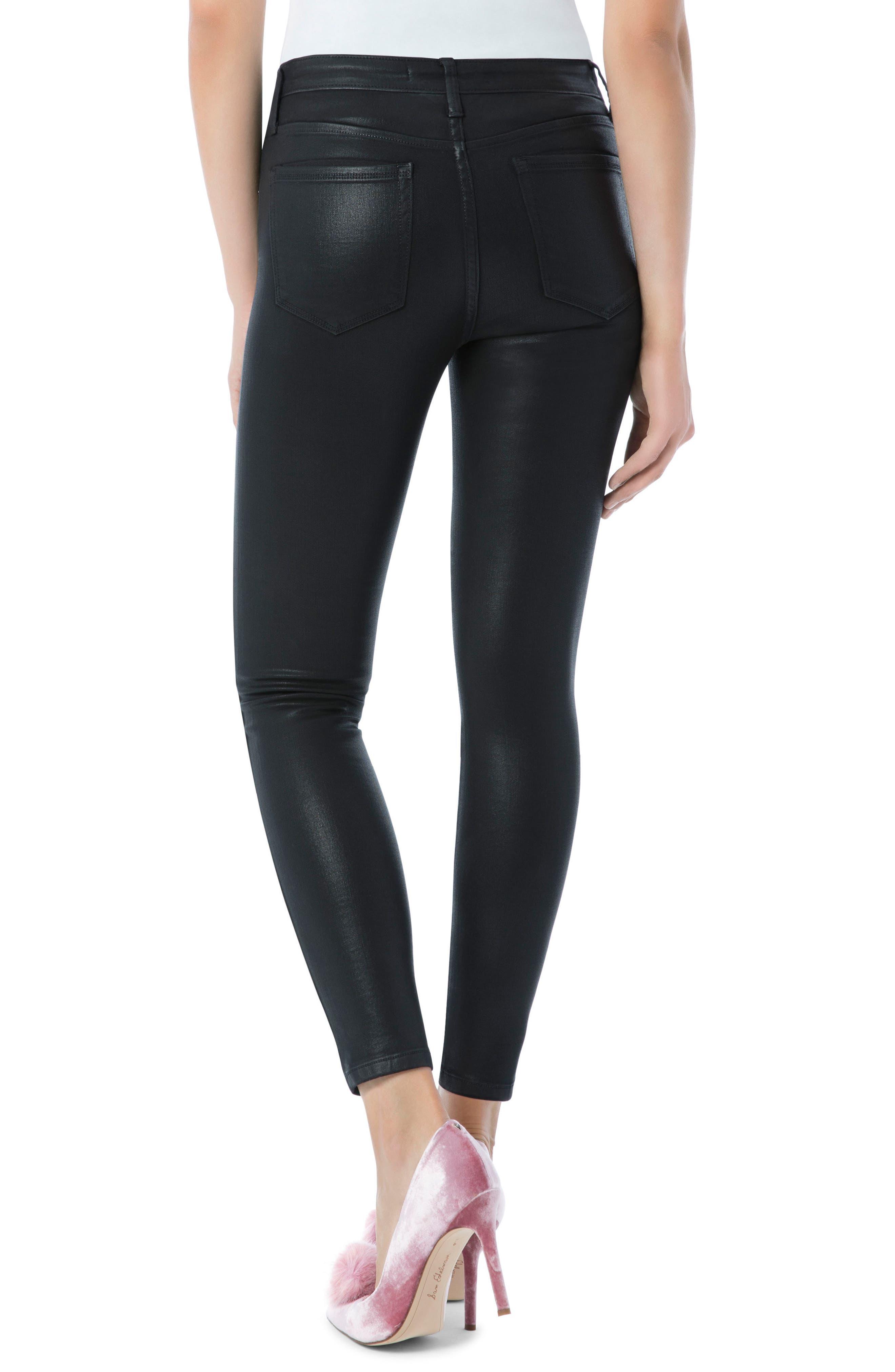 The Stiletto High Rise Ankle Jean,                             Alternate thumbnail 2, color,                             Black