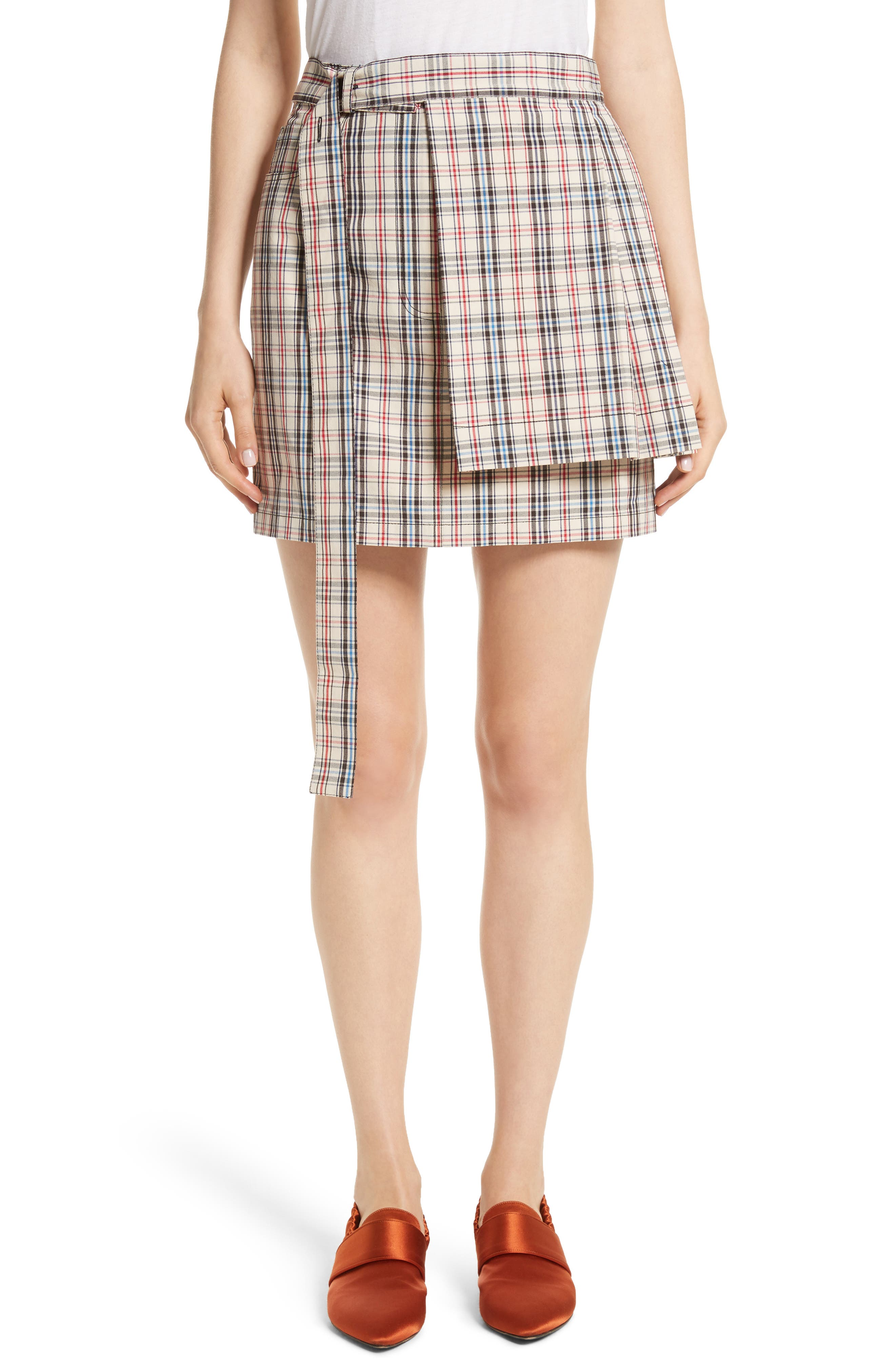 Bondage Kilt Mini Skort,                         Main,                         color, Paris