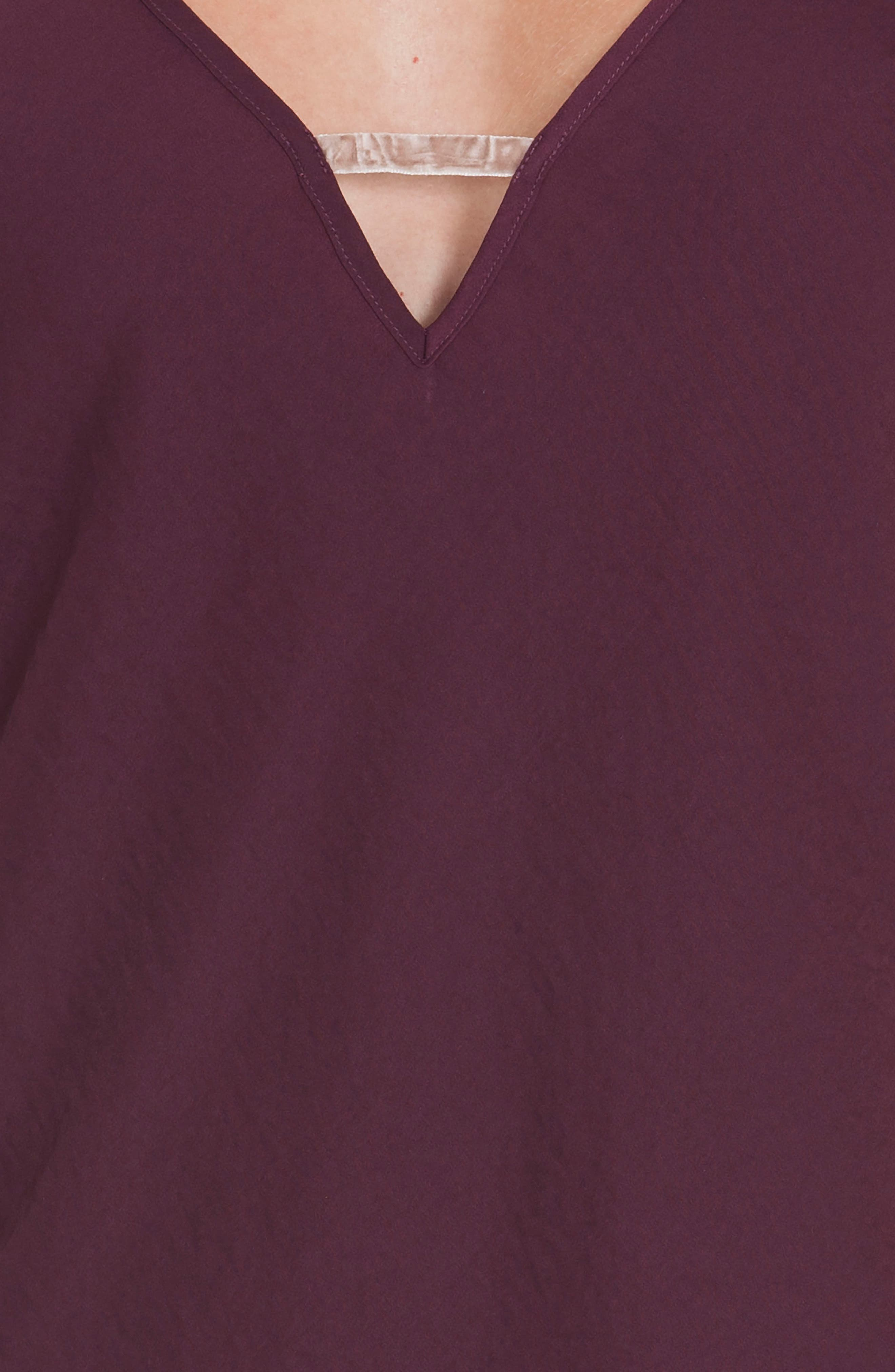Satin Nightgown,                             Alternate thumbnail 5, color,                             Wine