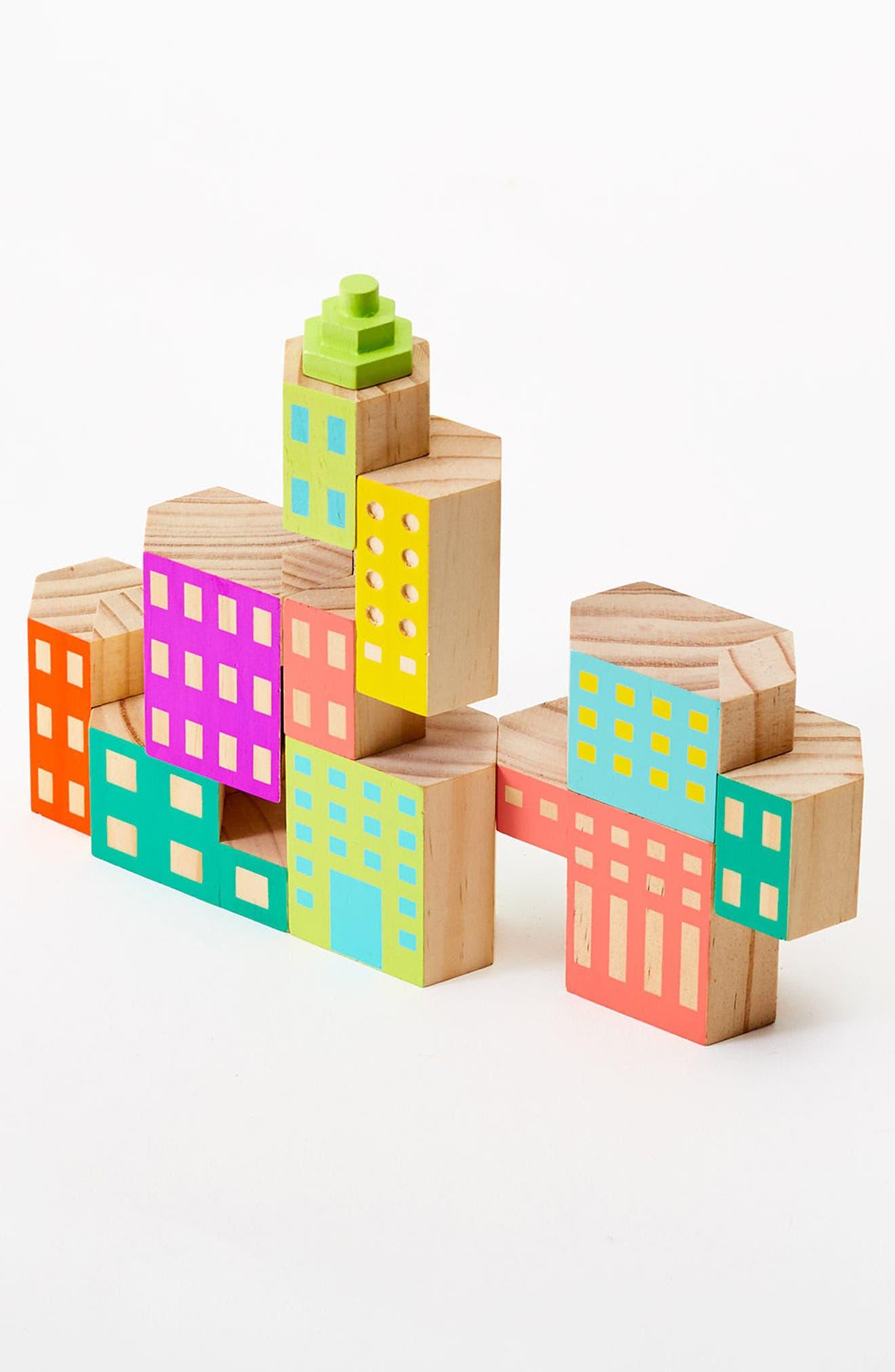 Areaware Blockitecture Deco 10-Piece Wooden Block Set