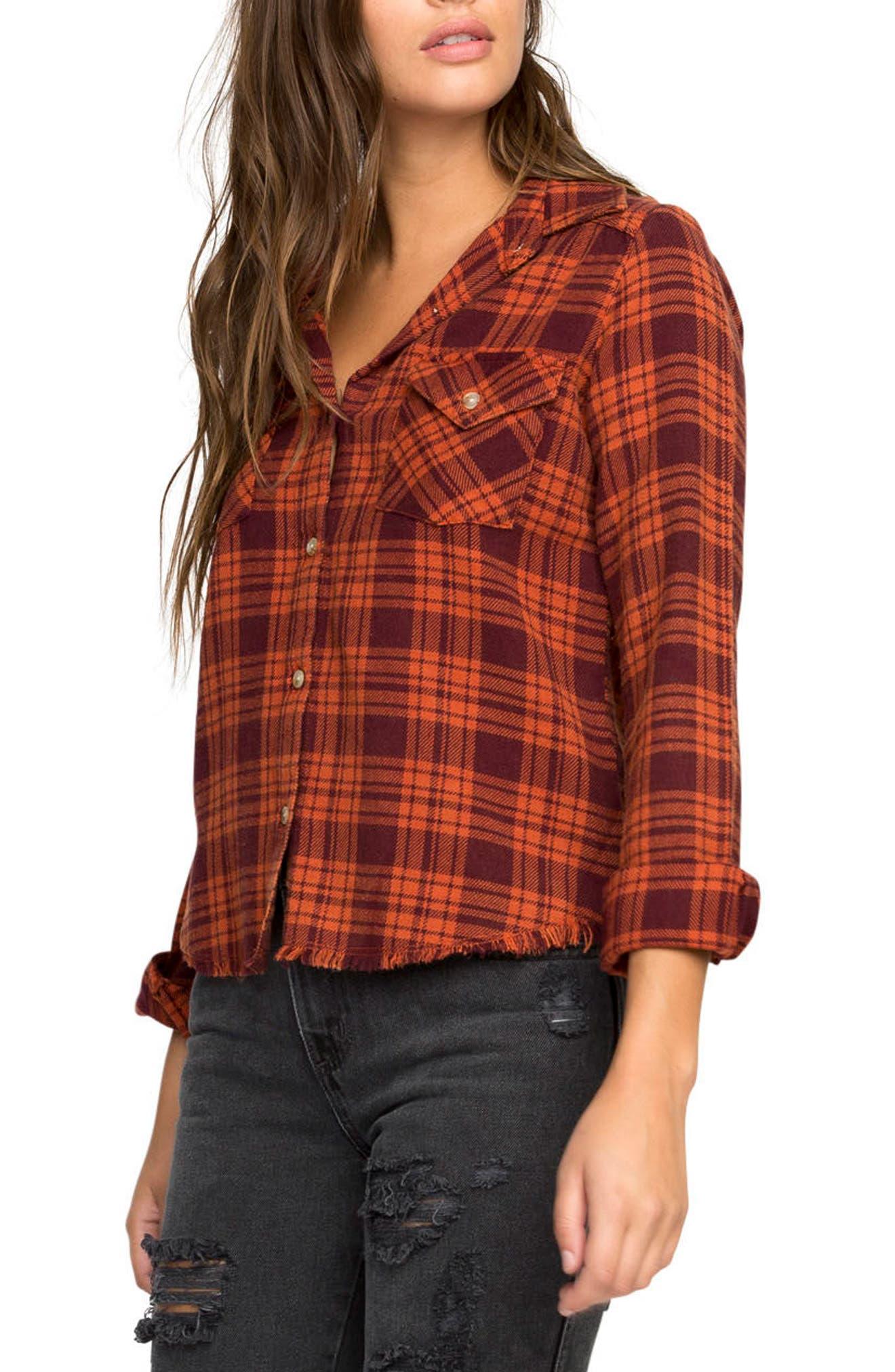 Alternate Image 3  - RVCA In a Haze Plaid Cotton Shirt