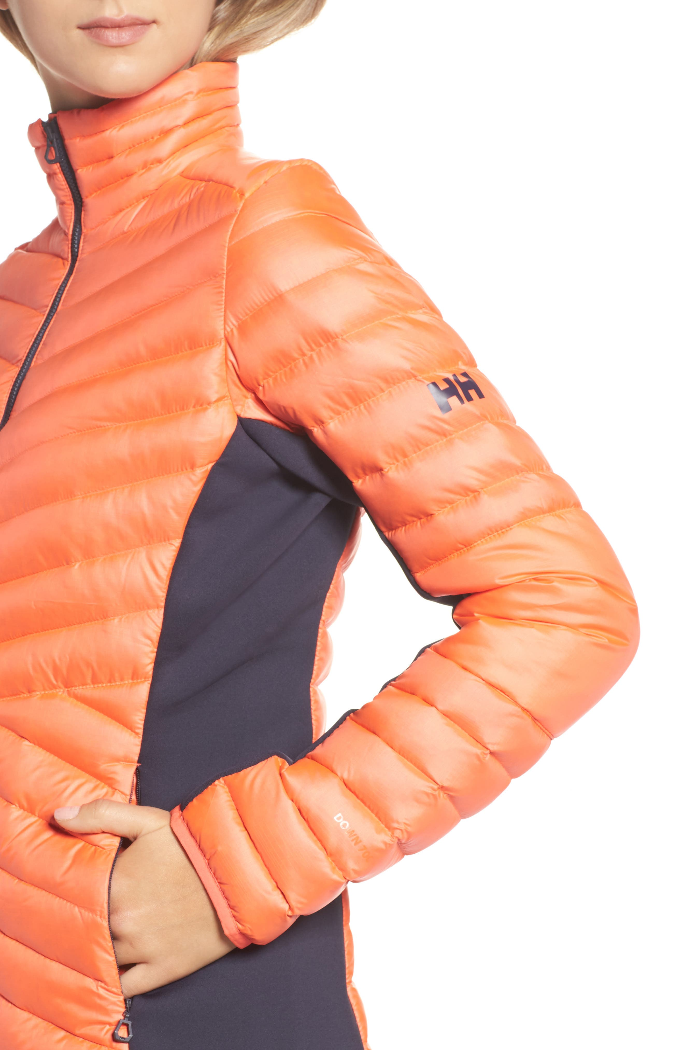 Verglas Hybrid Down Insulator Jacket,                             Alternate thumbnail 4, color,                             Neon Coral