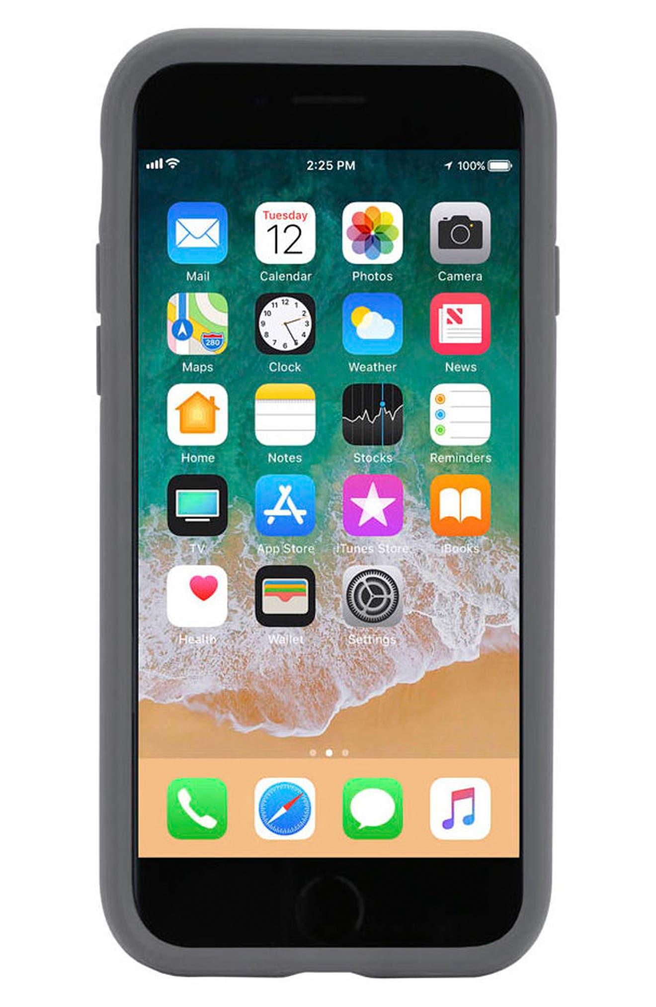 Icon iPhone 7/8 Case,                             Alternate thumbnail 7, color,                             Gunmetal