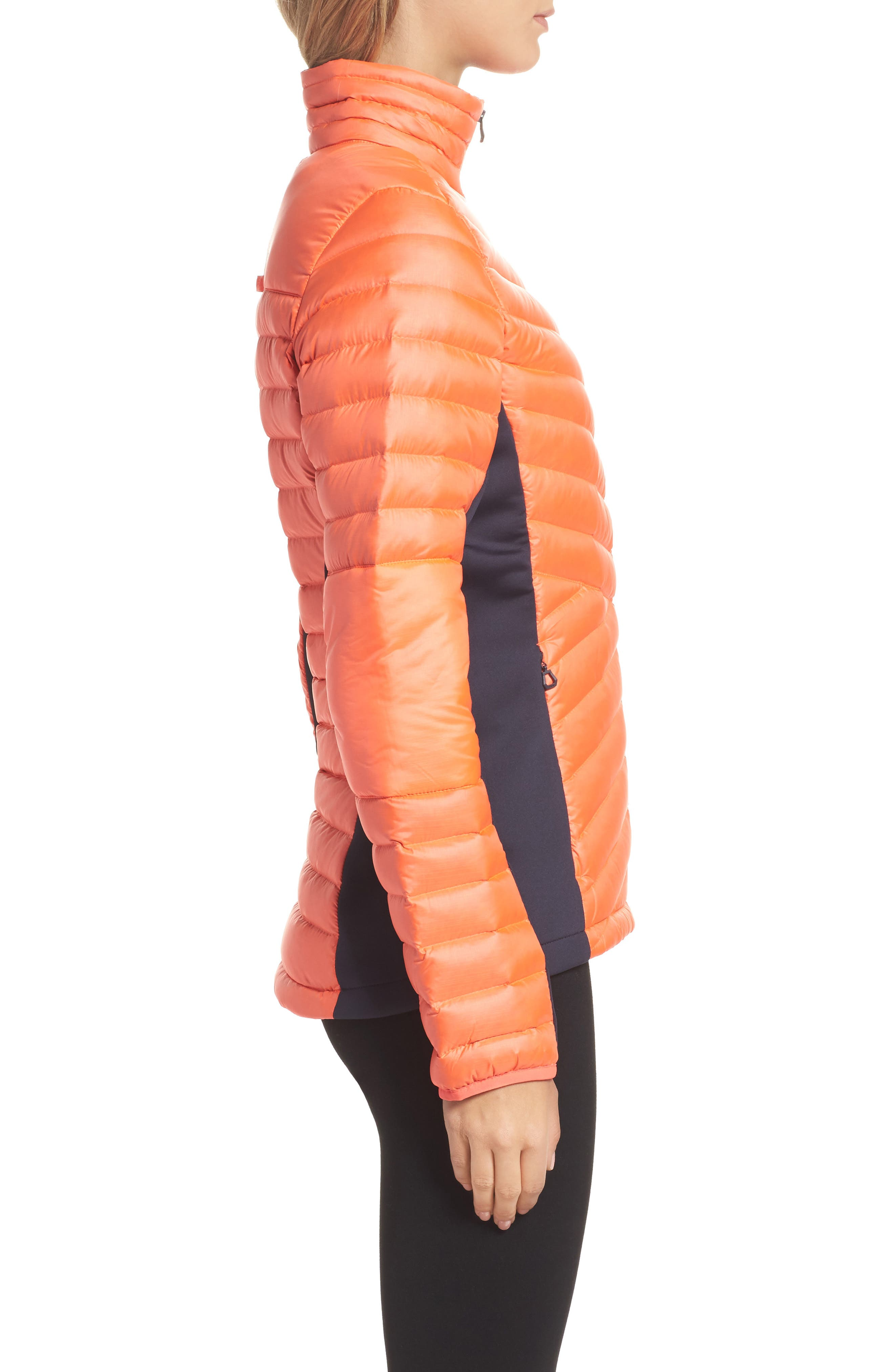 Verglas Hybrid Down Insulator Jacket,                             Alternate thumbnail 3, color,                             Neon Coral