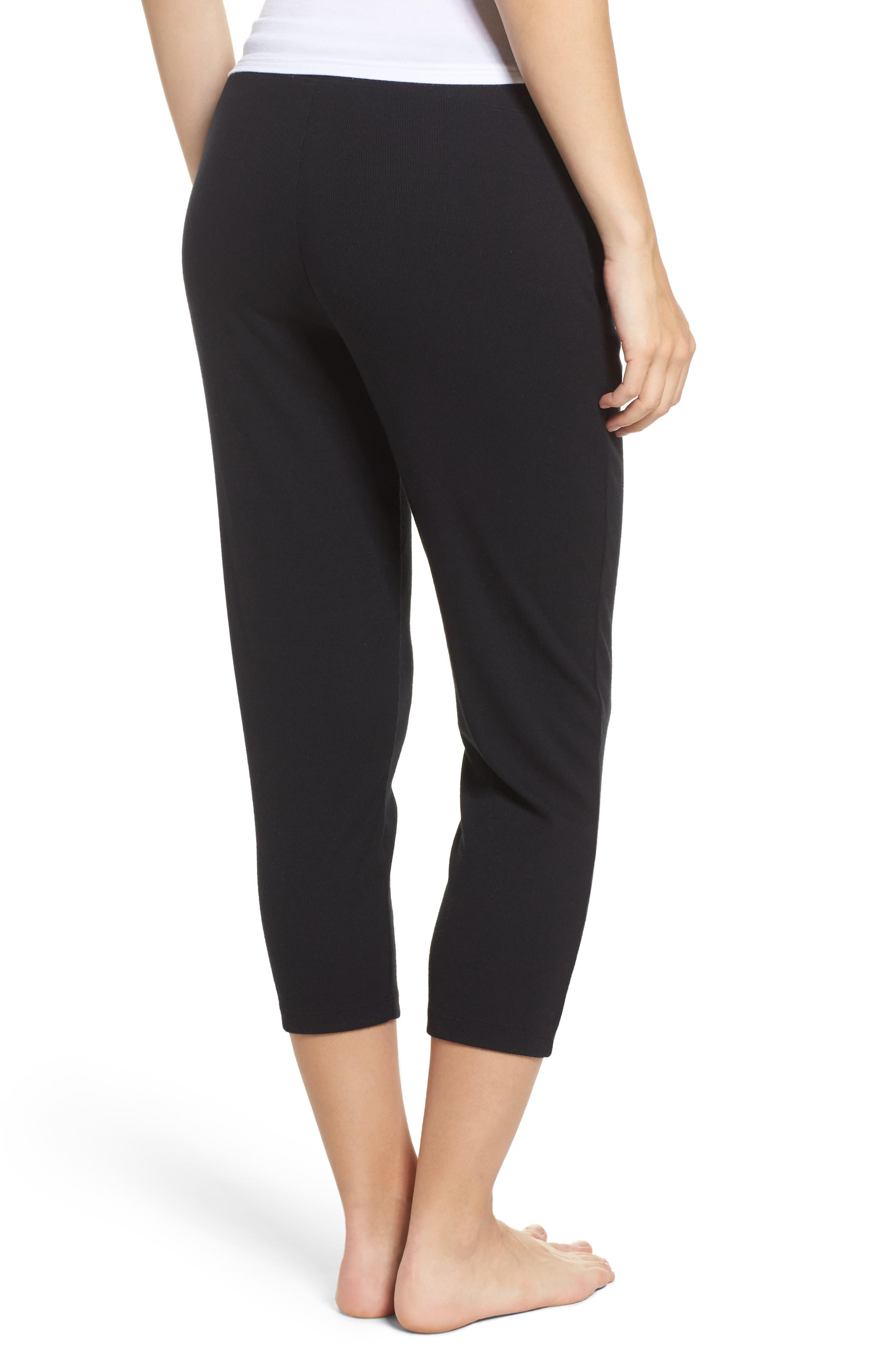 Carmin Crop Lounge Pants,                             Alternate thumbnail 2, color,                             Black
