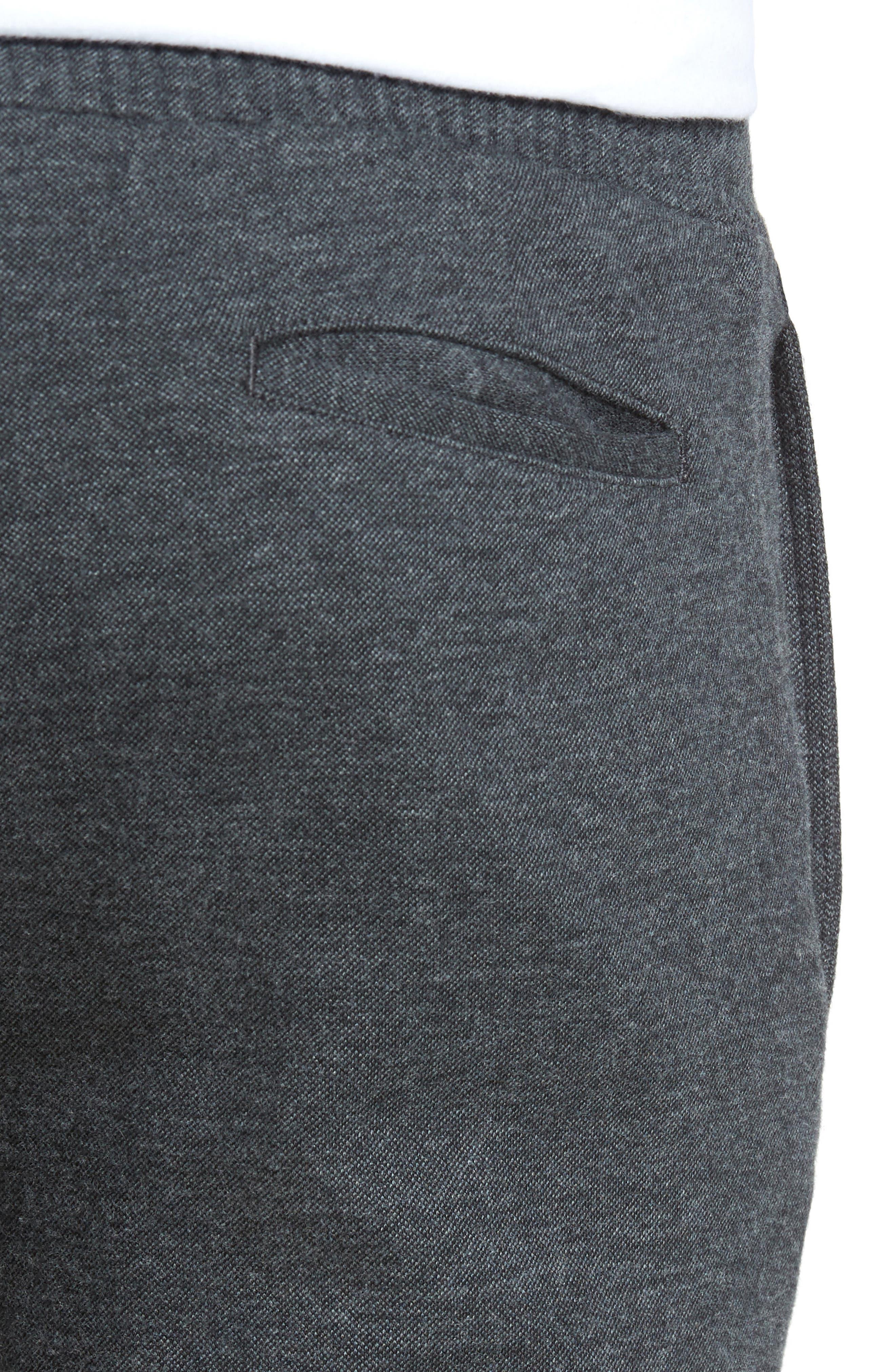 Jordan Flat Front Cotton Jogger Trousers,                             Alternate thumbnail 4, color,                             Medium Grey