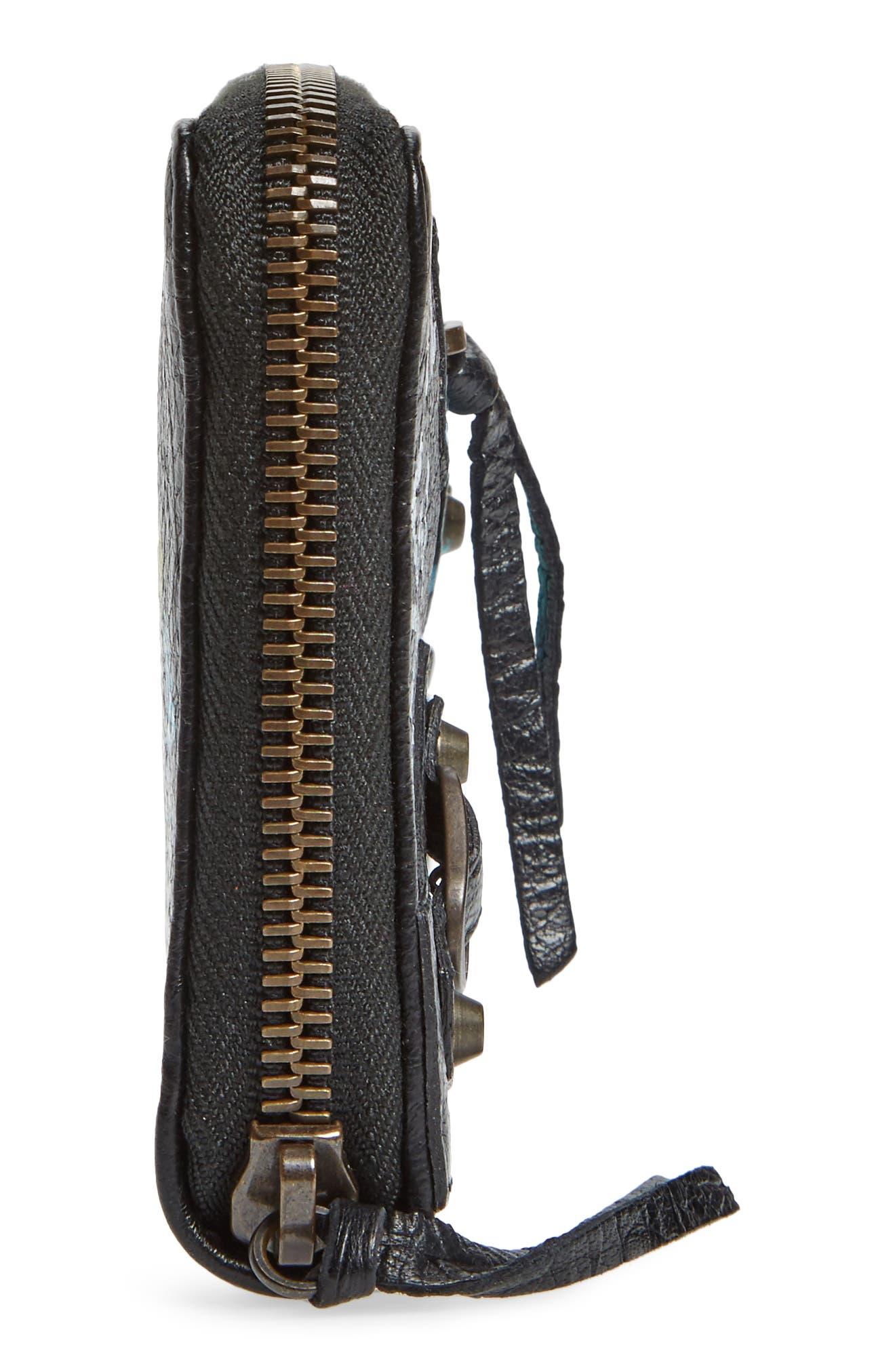 Classic Continental Leather Wallet,                             Alternate thumbnail 5, color,                             Noir/ Multi Color