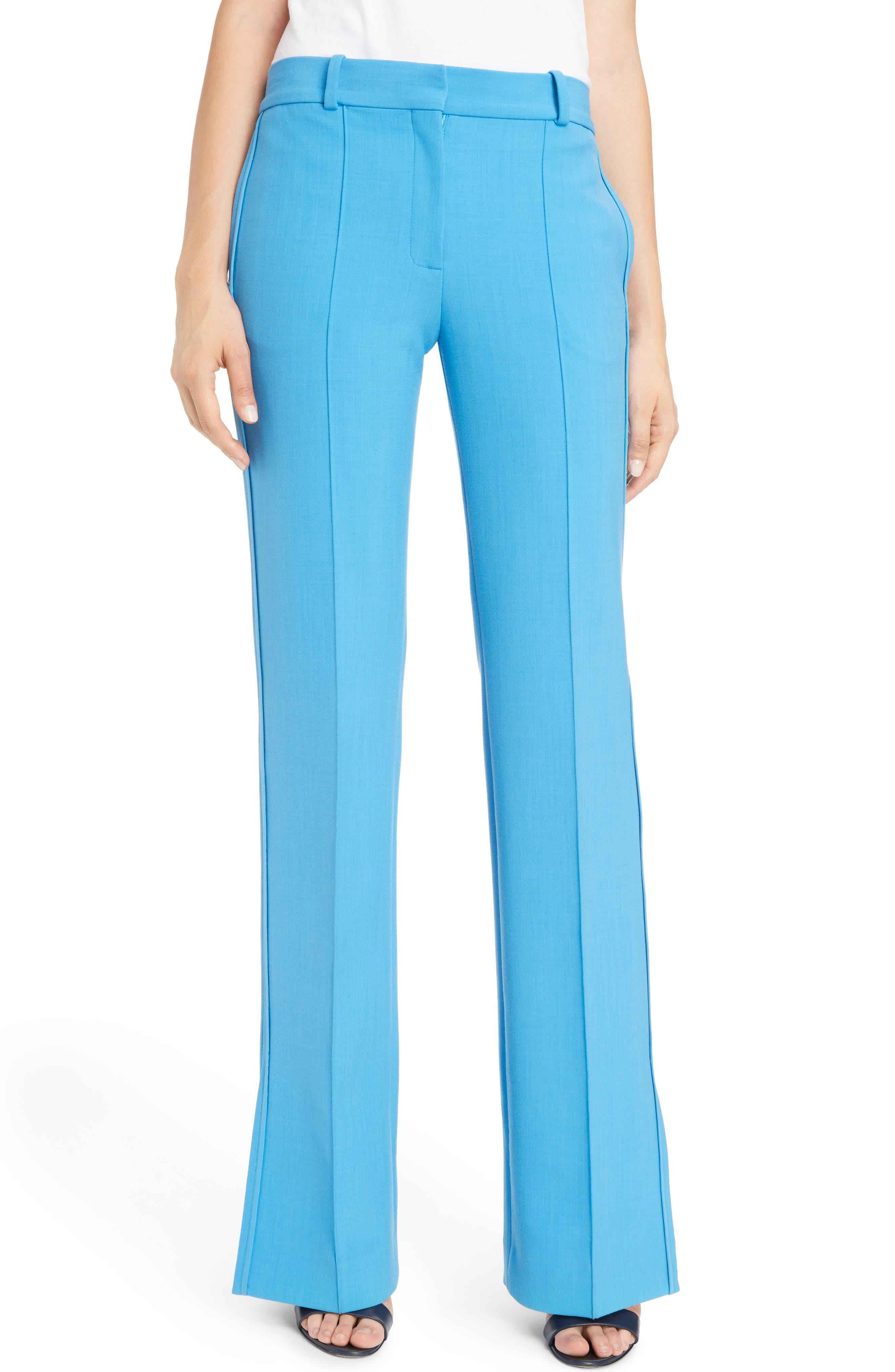 Split Hem Pants,                         Main,                         color, Azure