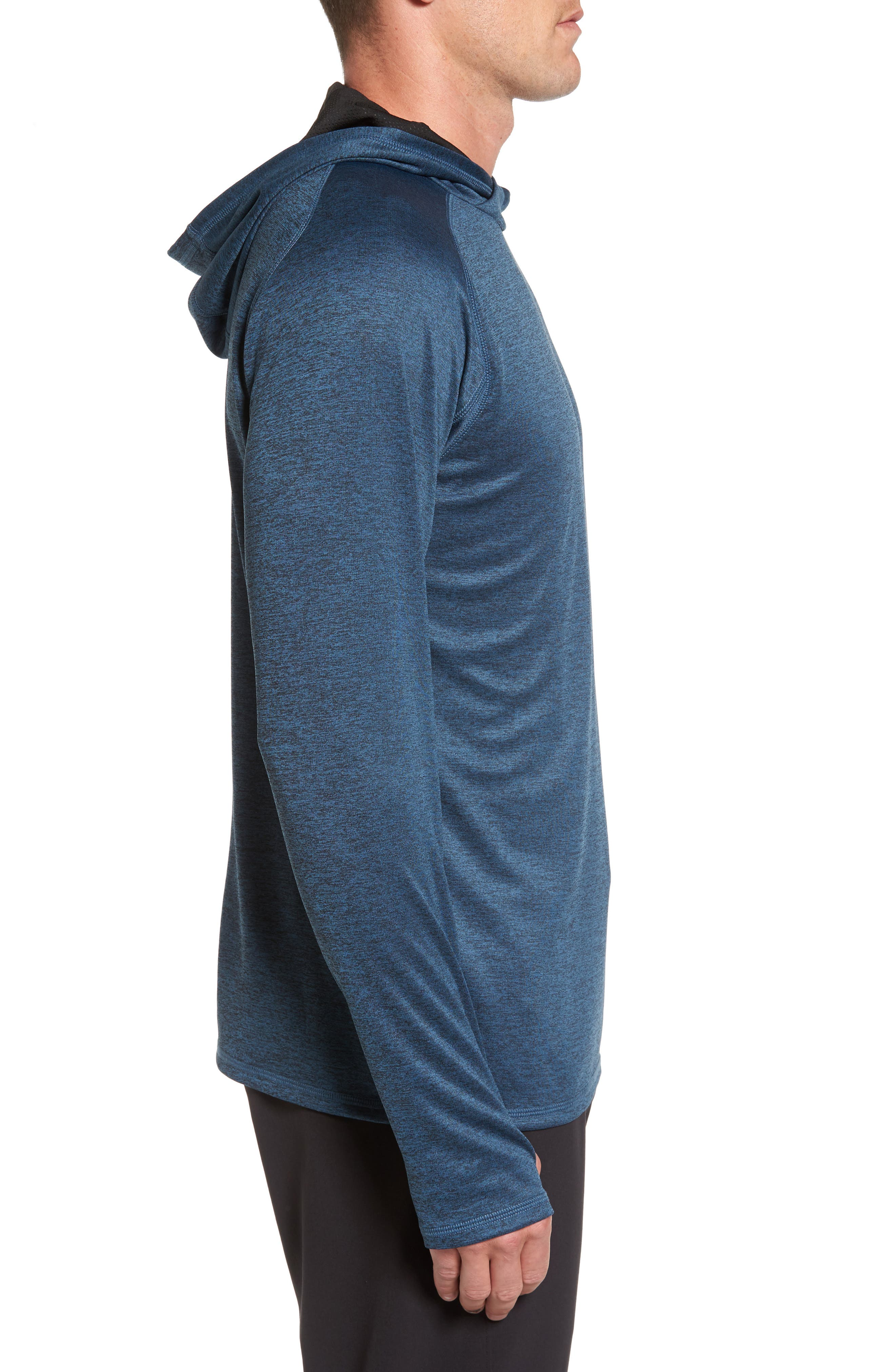 Lightweight Pullover Hoodie,                             Alternate thumbnail 3, color,                             Blue Chrome Melange