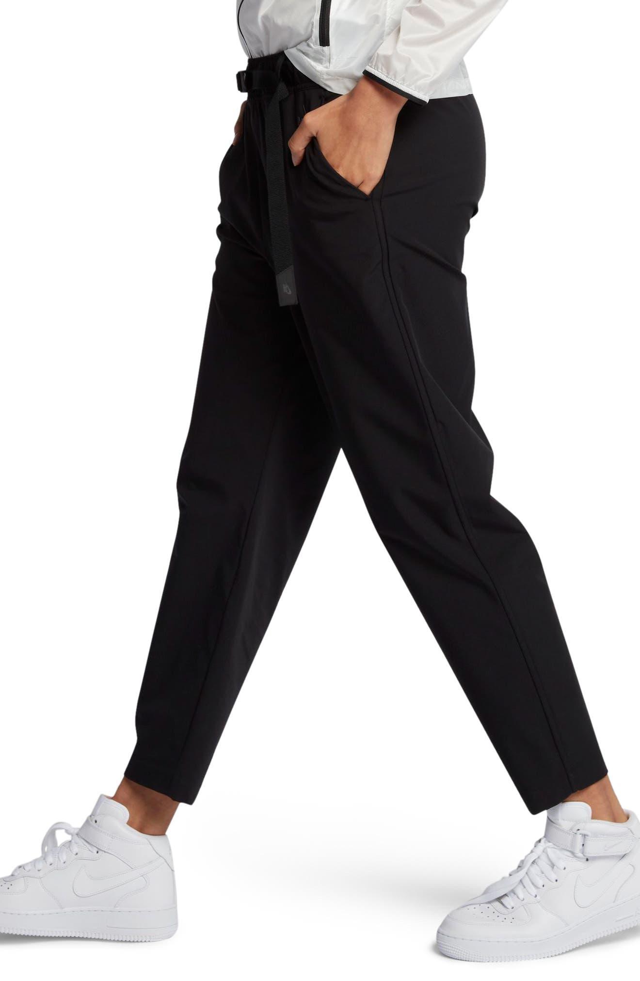 NikeLab Essentials Women's Stretch Woven Pants,                             Alternate thumbnail 3, color,                             Black/ Black
