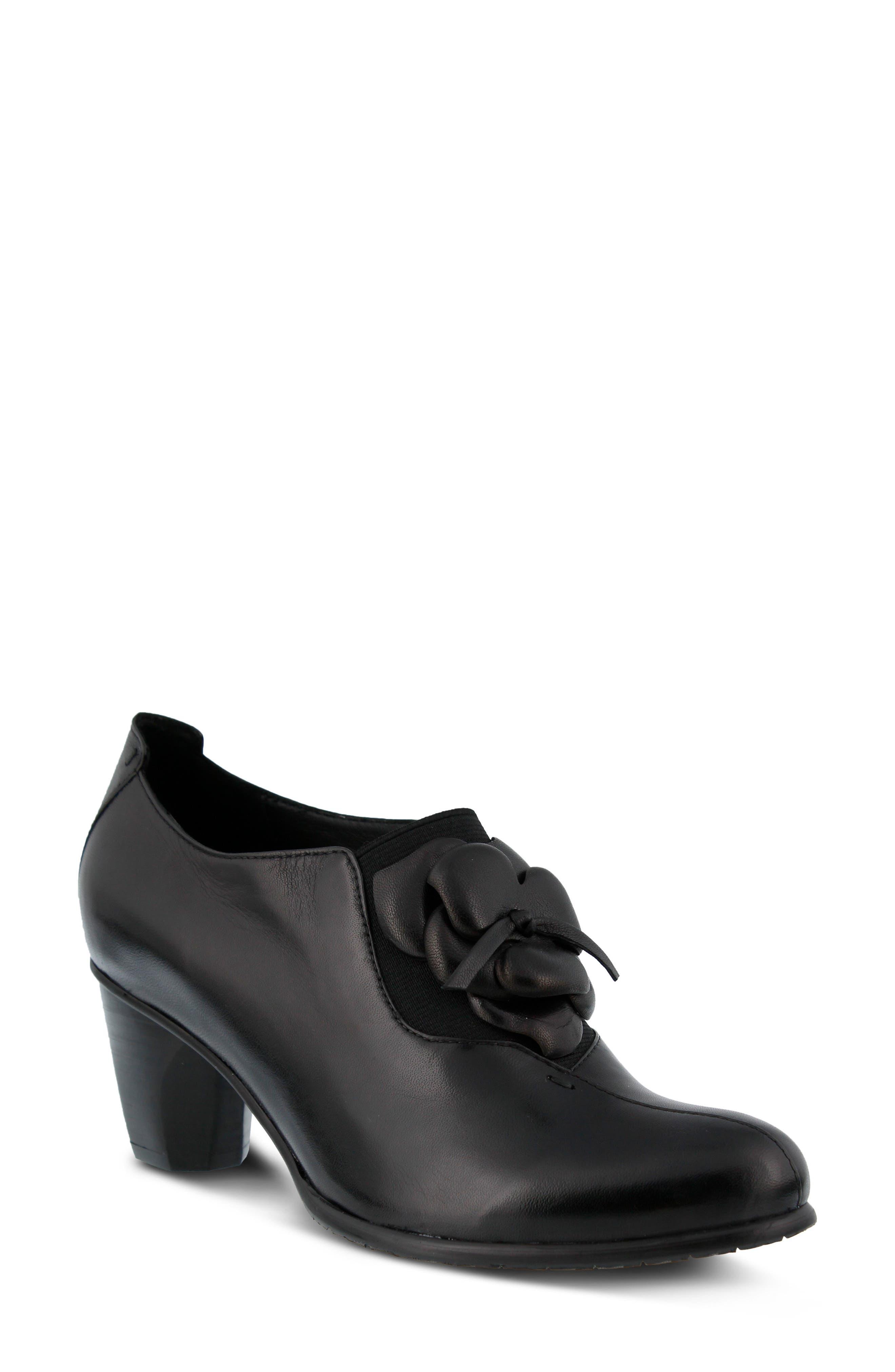 Evelina Pump,                         Main,                         color, Black Leather