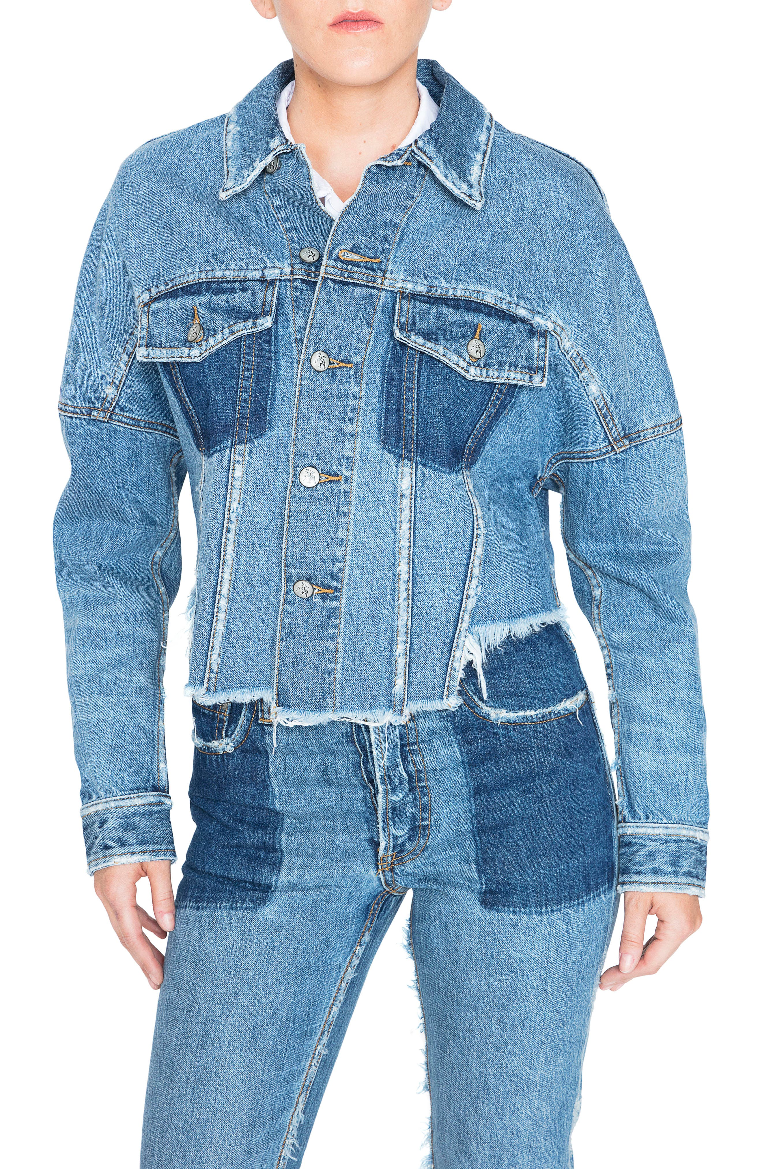 PRPS Crop Denim Jacket