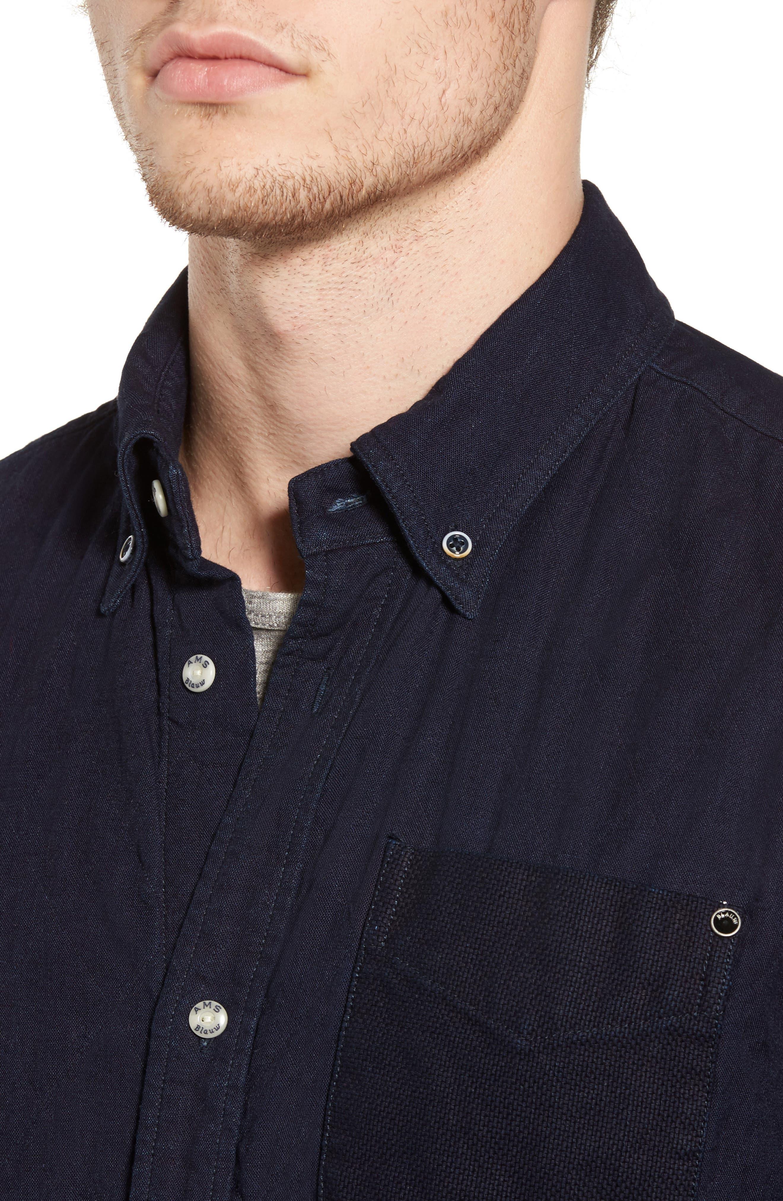 Alternate Image 4  - Scotch & Soda Double Weave Overshirt