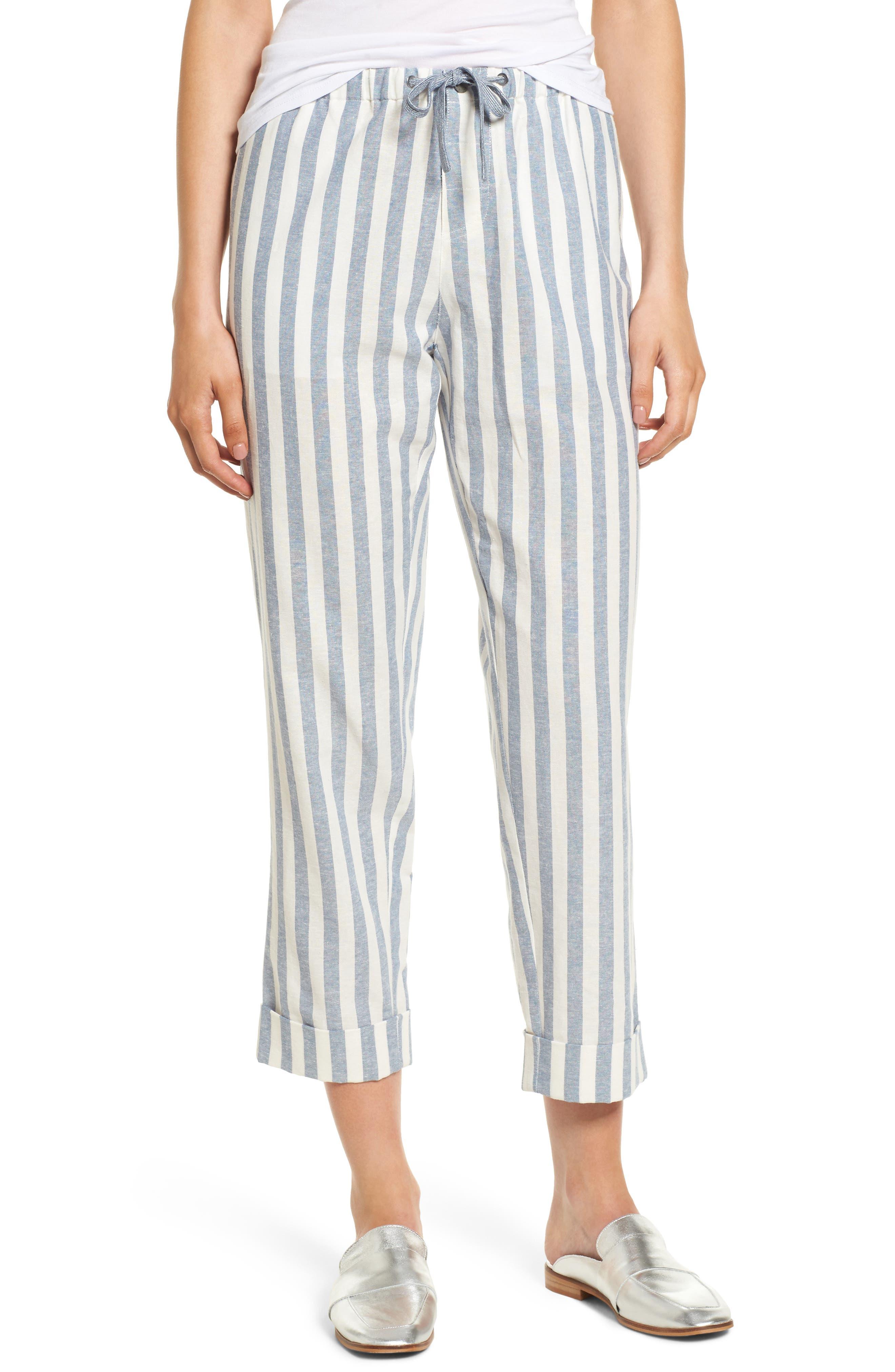Vera Drawstring Pants,                         Main,                         color, Stripe