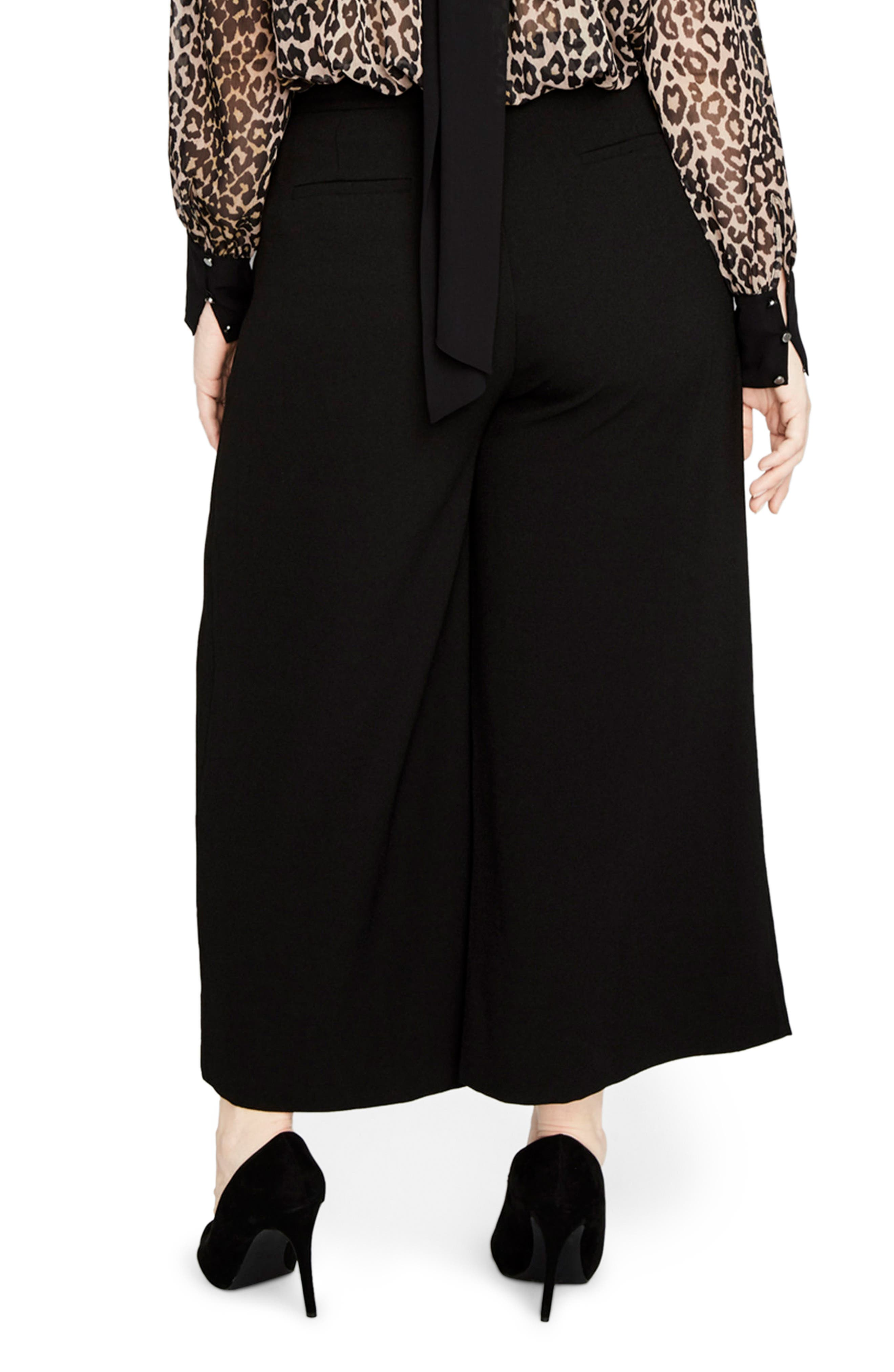 Cuffed Flare Pants,                             Alternate thumbnail 2, color,                             Black