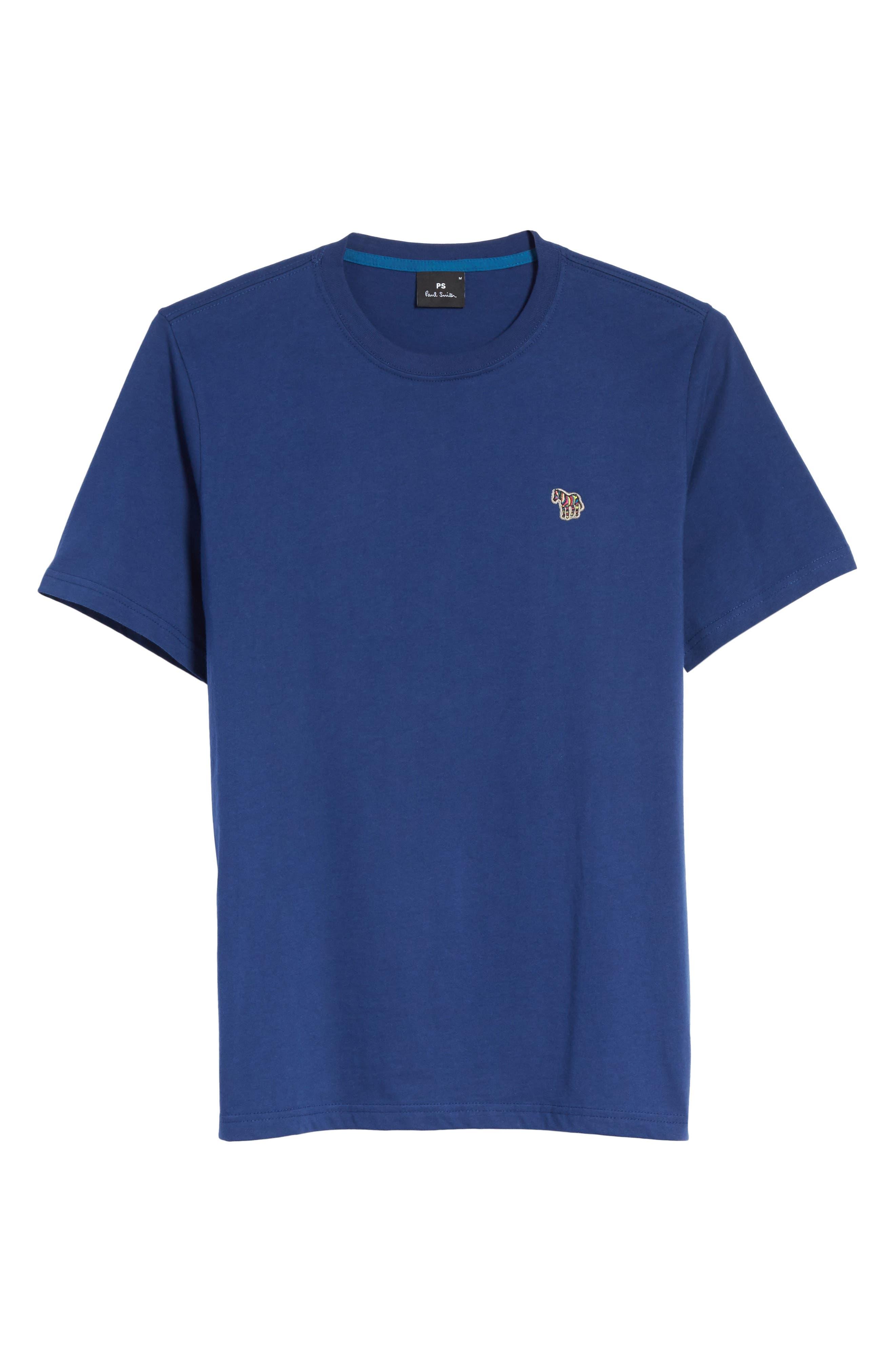 Zebra Logo T-Shirt,                             Alternate thumbnail 6, color,                             Blue