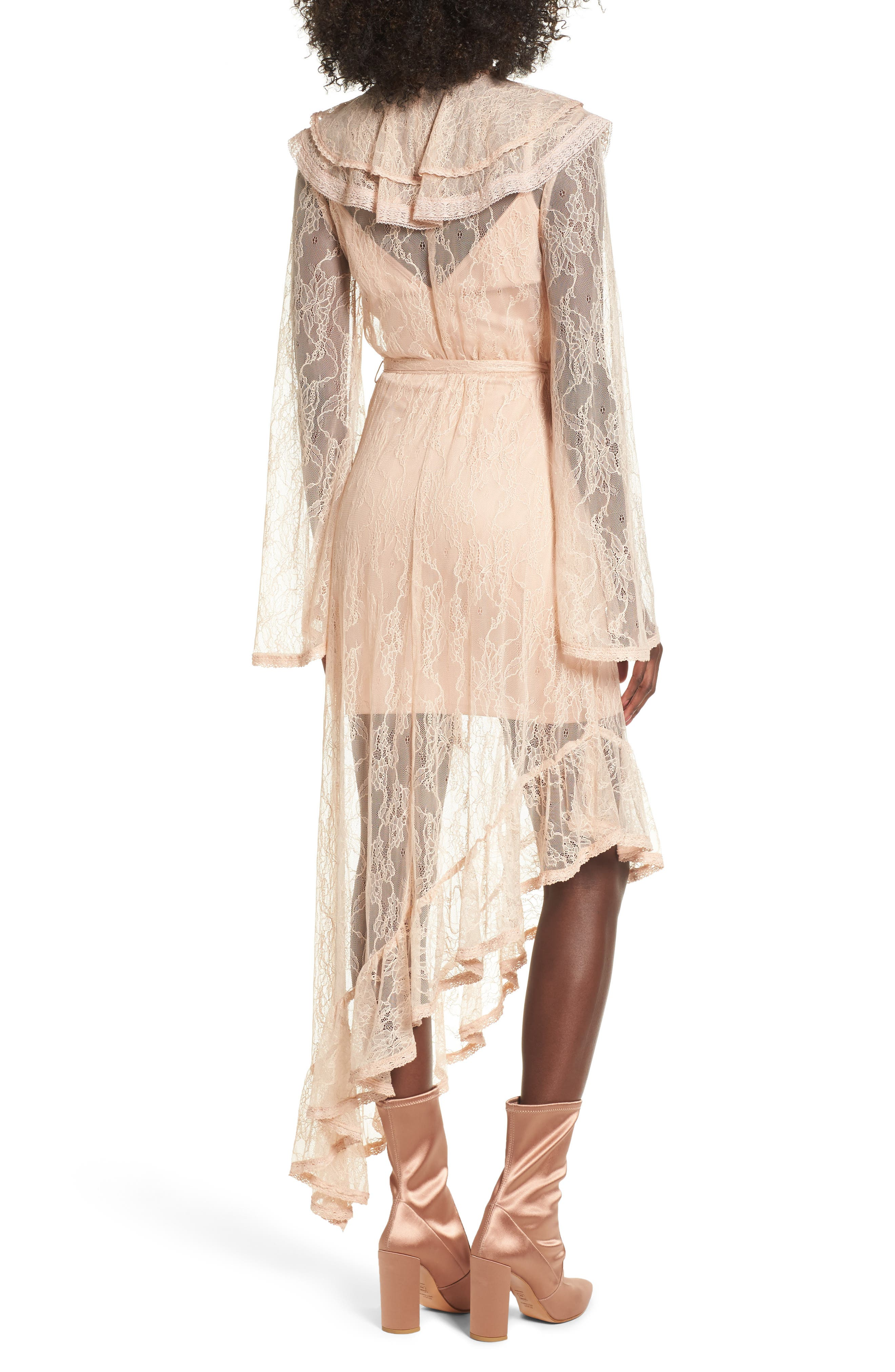 Alternate Image 2  - AFRM Ray Asymmetrical Lace Dress