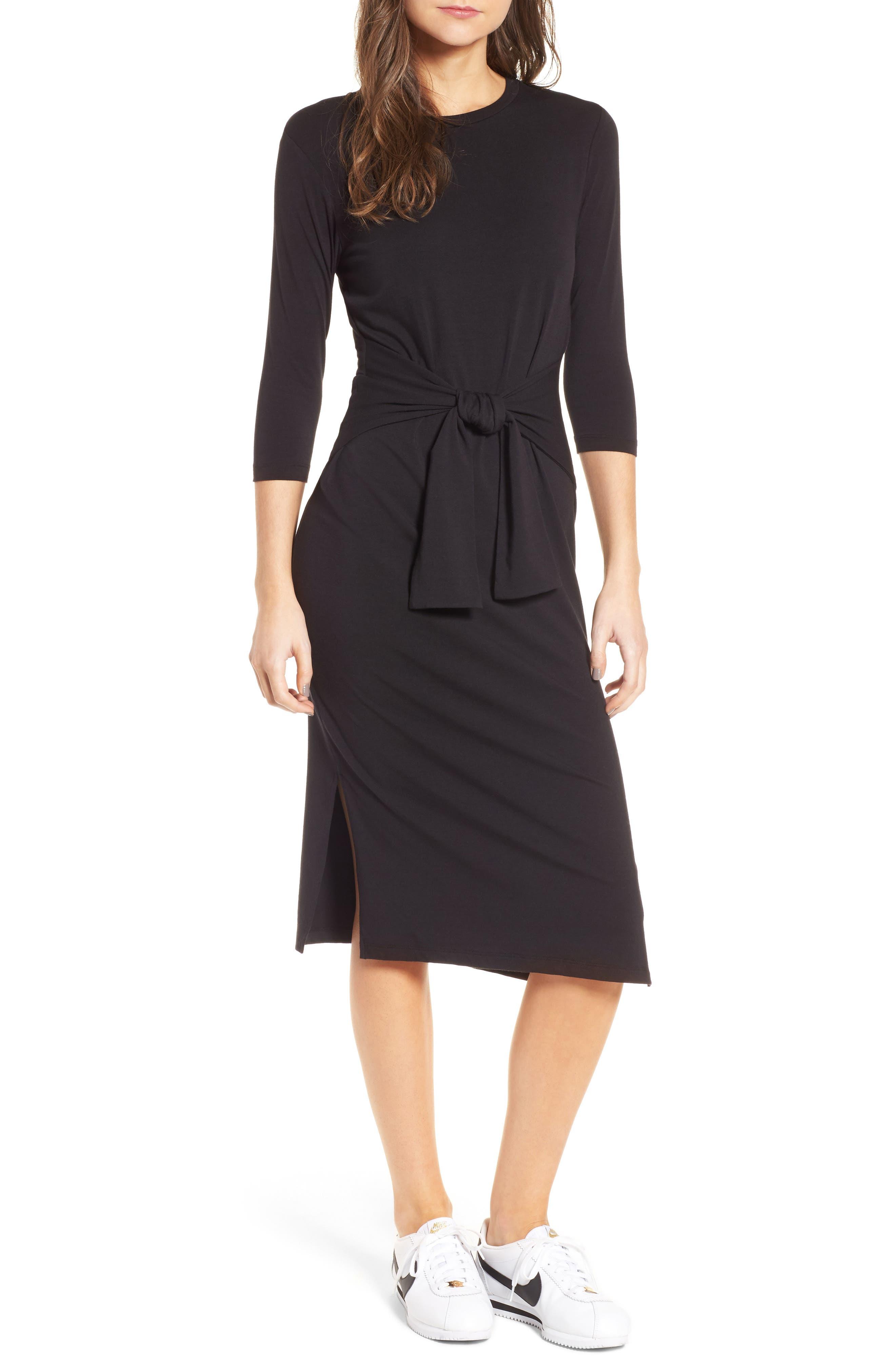 Colombe Knit Sheath Dress,                             Main thumbnail 1, color,                             Black