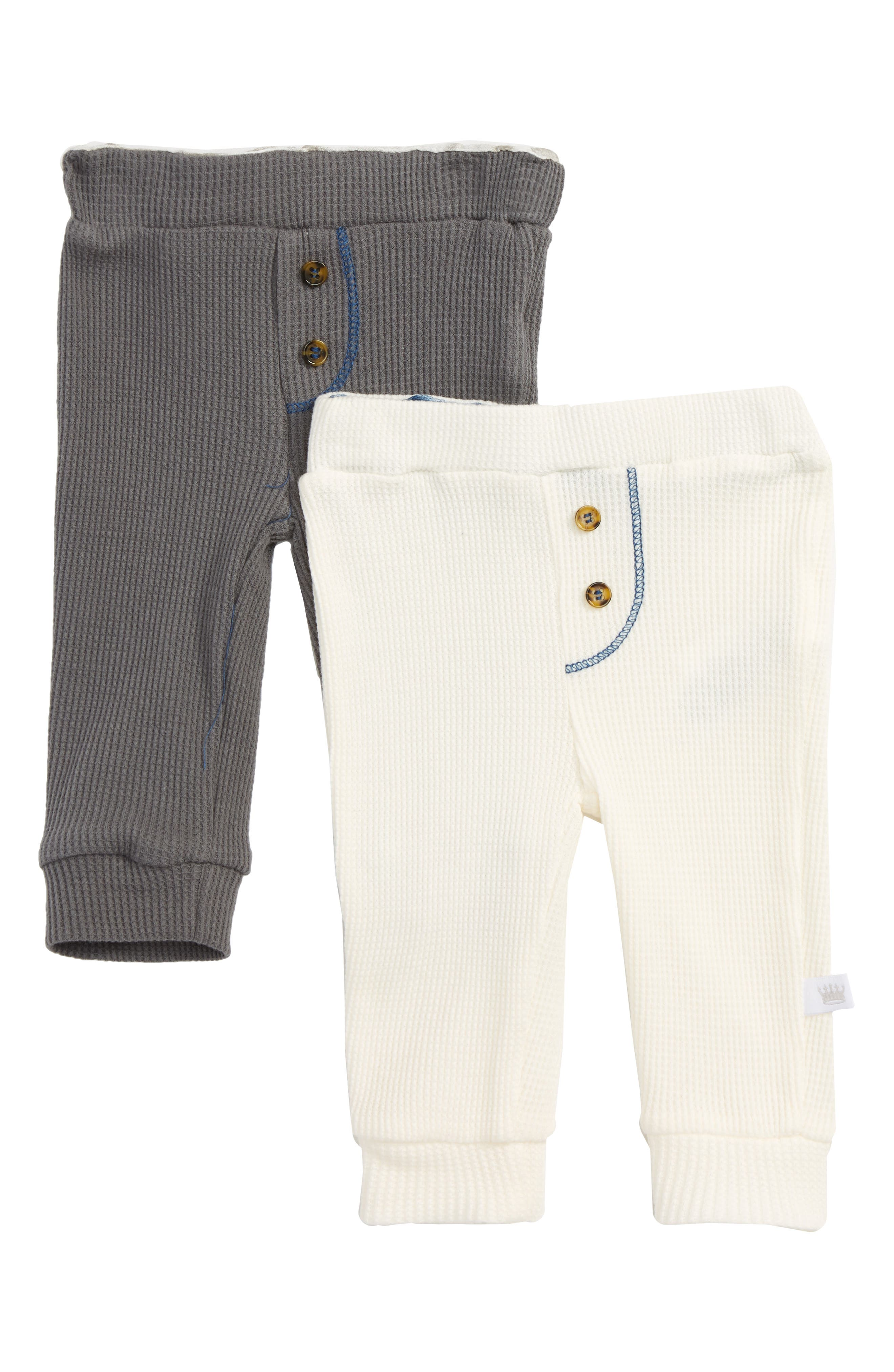 Rosie Pope 2-Pack Waffle Knit Pants (Baby Boys)
