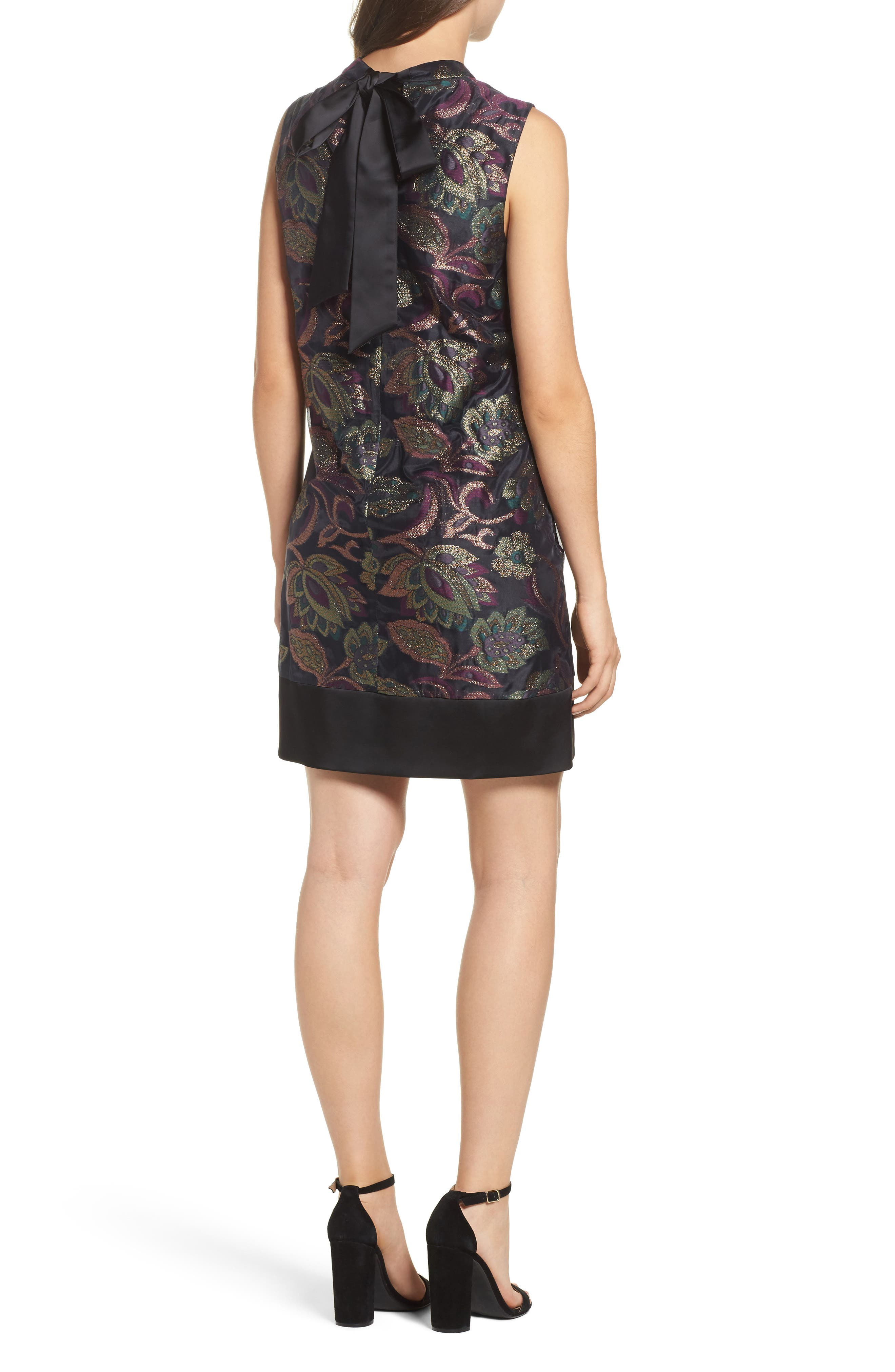 Alternate Image 2  - Maggy London Jacquard Shift Dress (Regular & Petite)