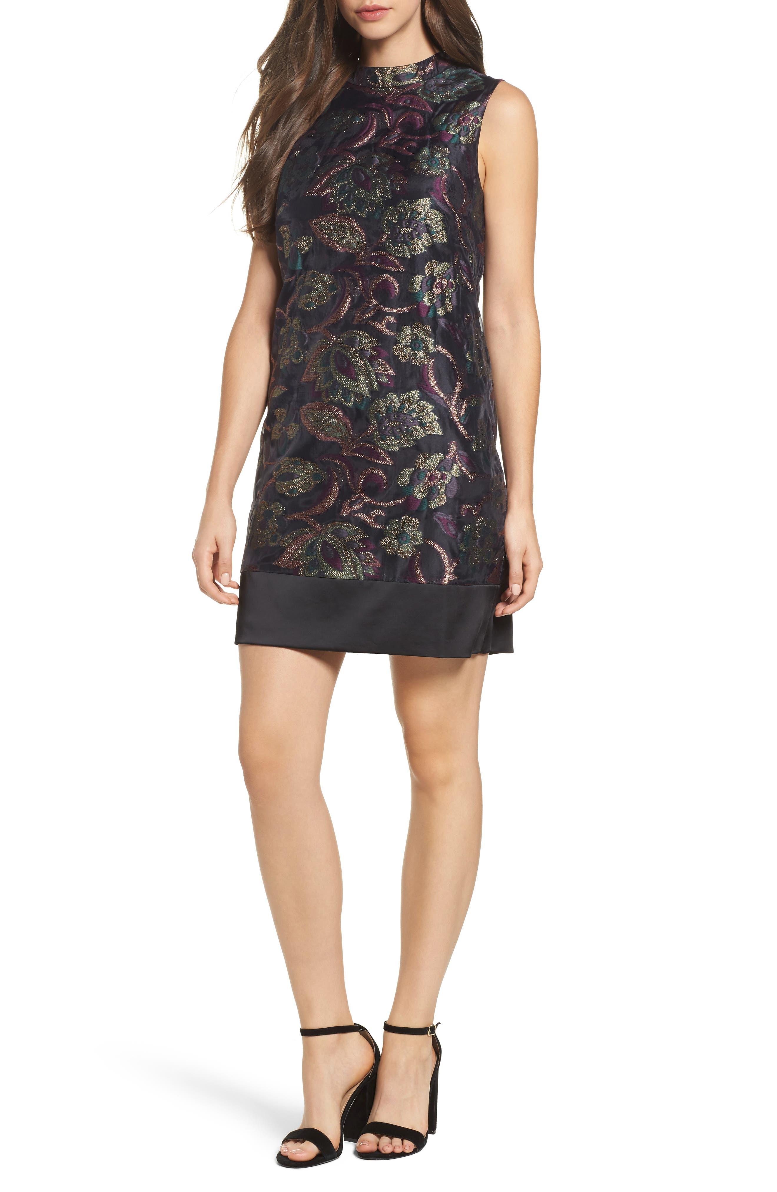 Alternate Image 1 Selected - Maggy London Jacquard Shift Dress (Regular & Petite)