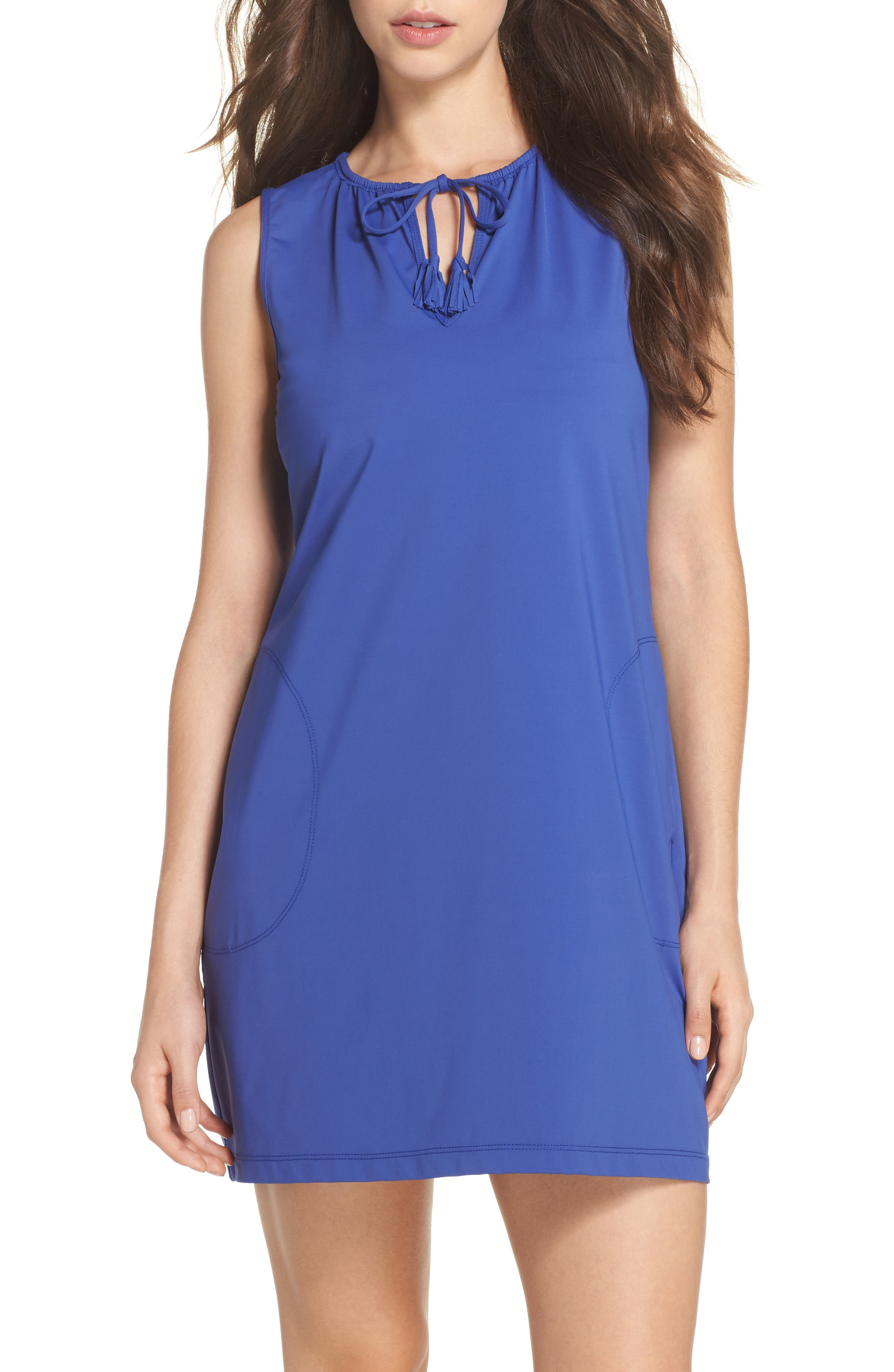 Main Image - Tommy Bahama 'Pearl' Split Neck Cover-Up Dress