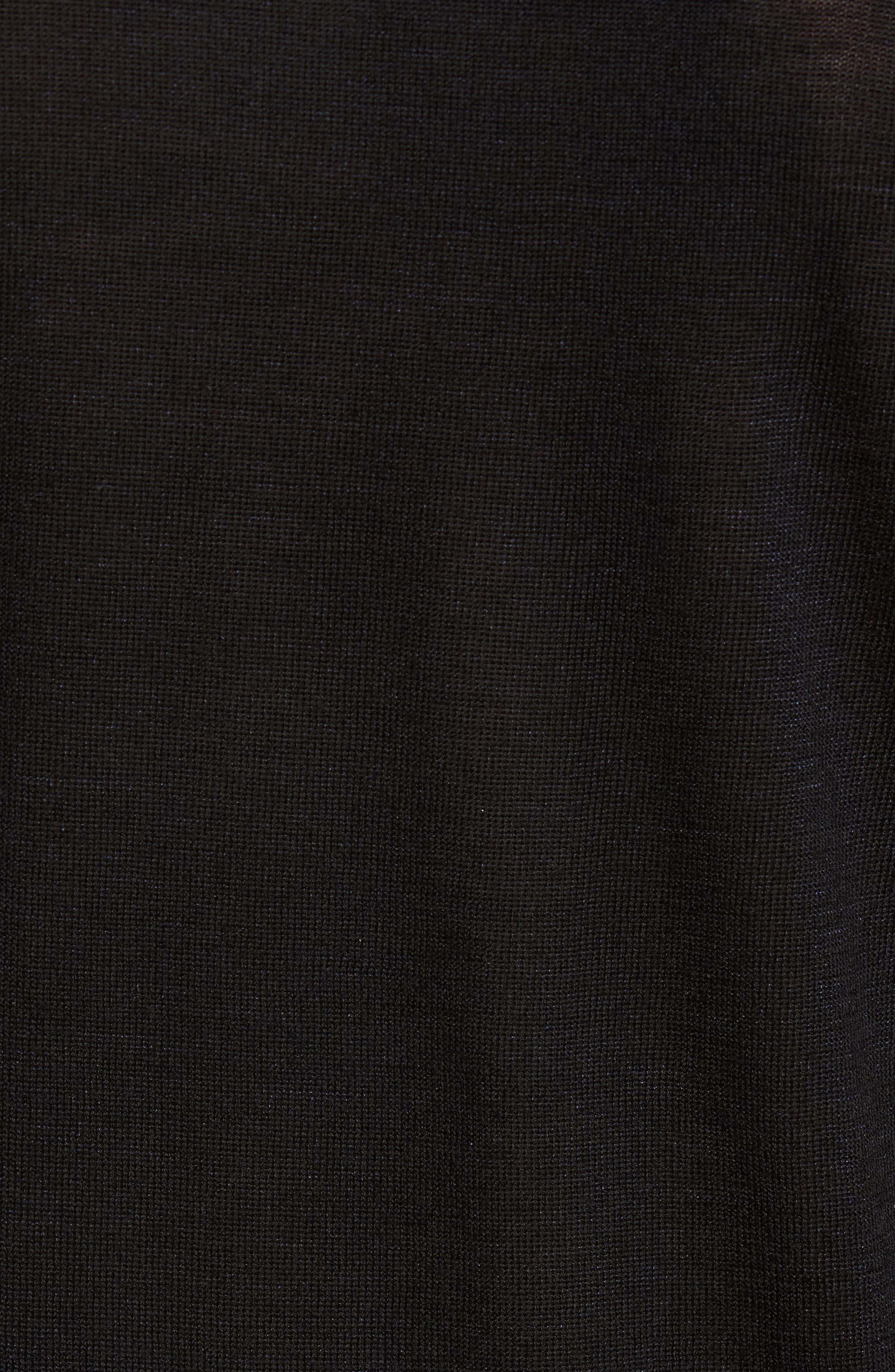 Crewneck Wool Blend Sweater,                             Alternate thumbnail 5, color,                             Black