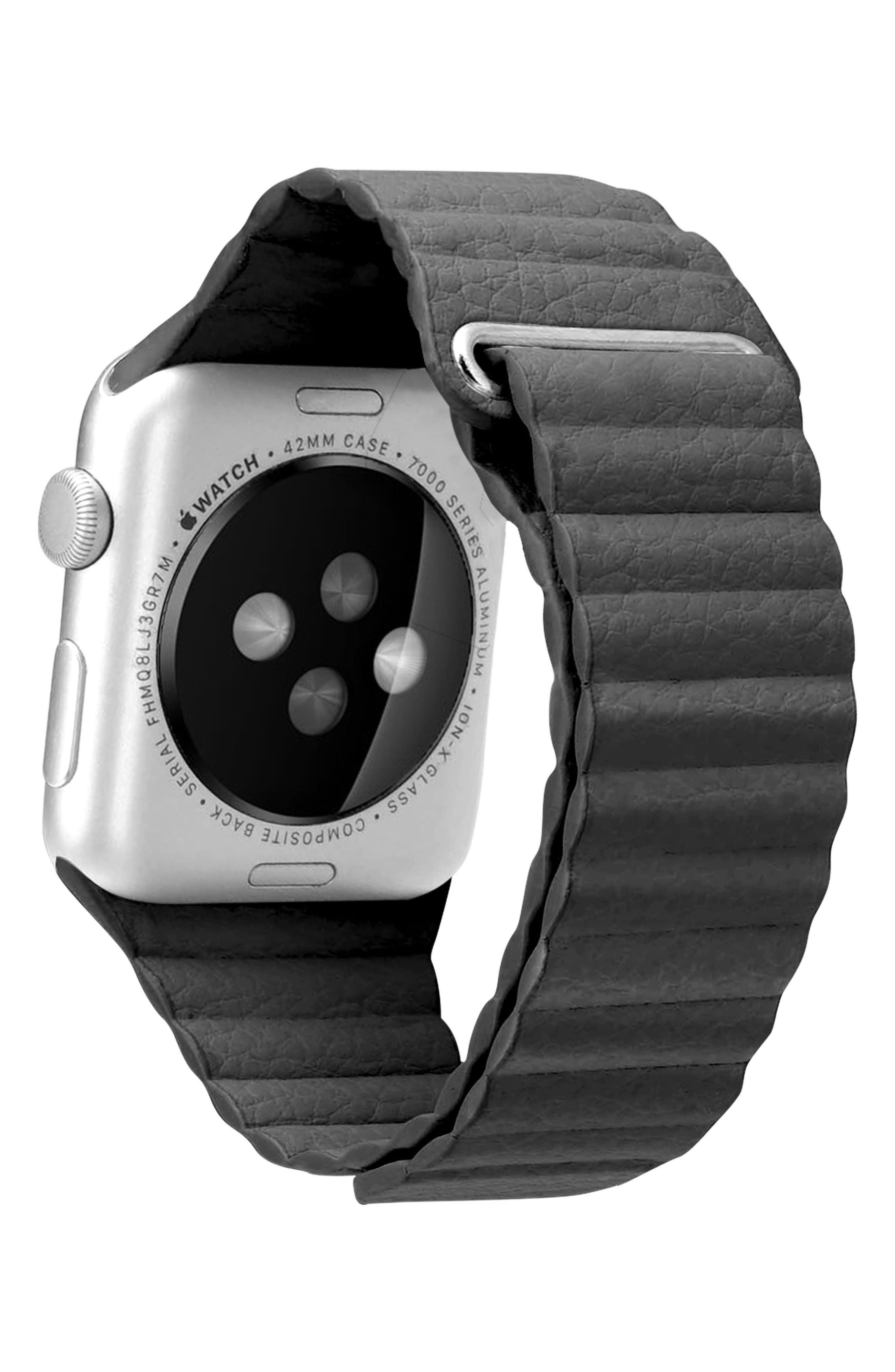 Magnetic Apple Watch Strap, 28mm,                             Alternate thumbnail 2, color,                             Slate