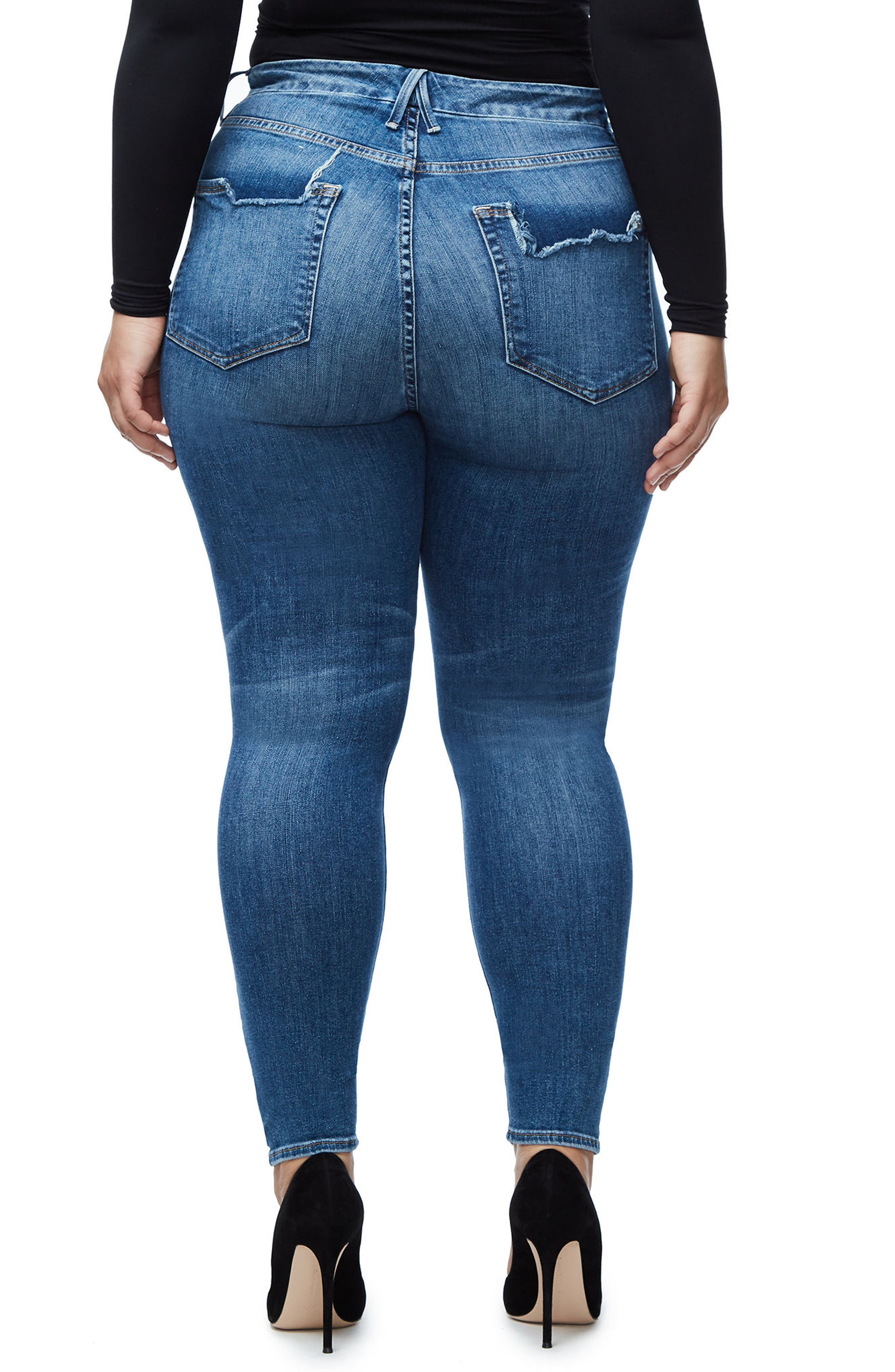 Alternate Image 5  - Good American Good Legs High Waist Skinny Jeans (Blue 107)  (Regular & Plus Size)