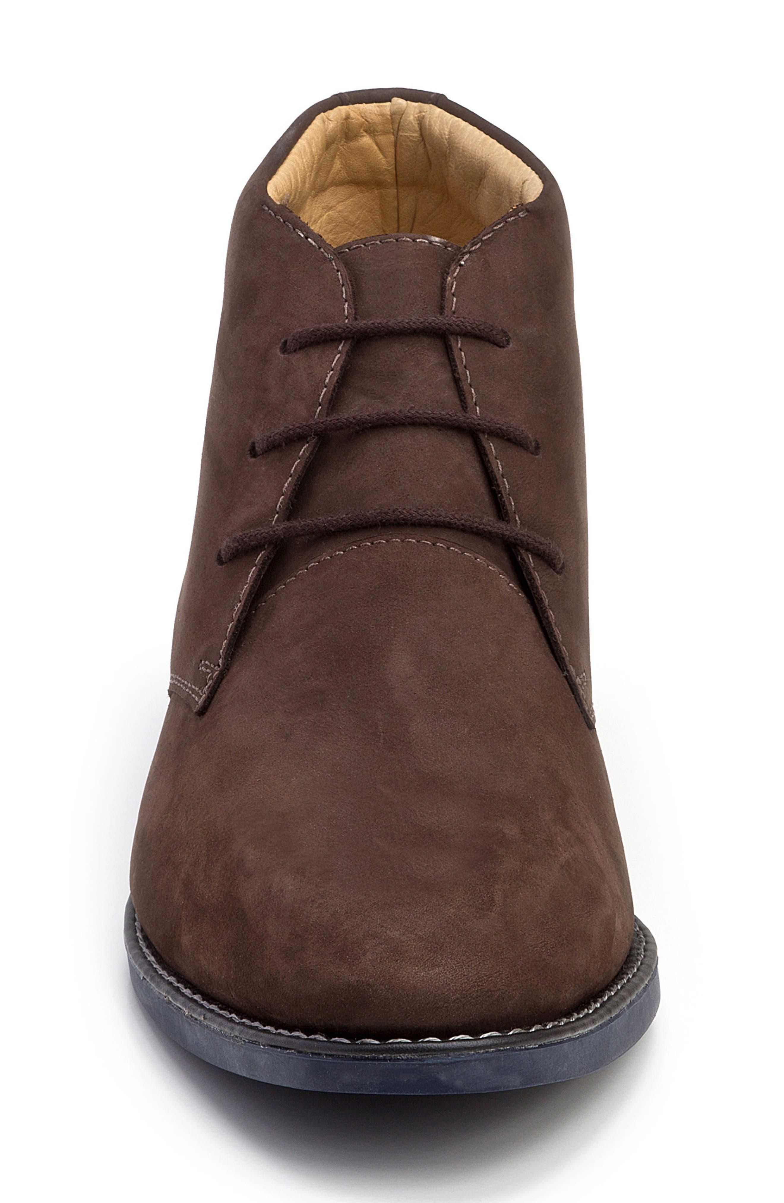 Nick Chukka Boot,                             Alternate thumbnail 4, color,                             Brown Nubuck Leather