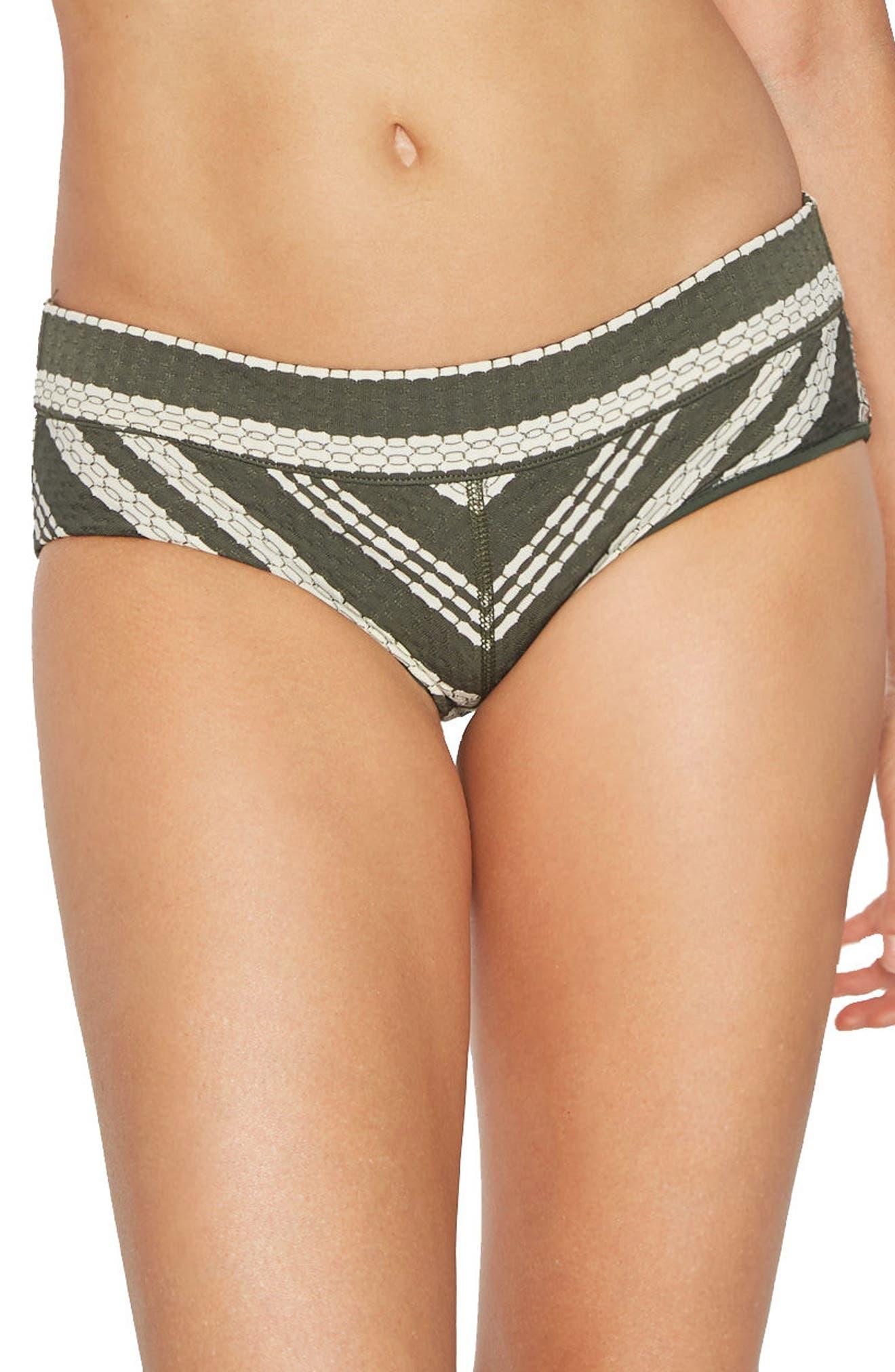 Livvy Hipster Bikini Bottoms,                         Main,                         color, Deep Forest