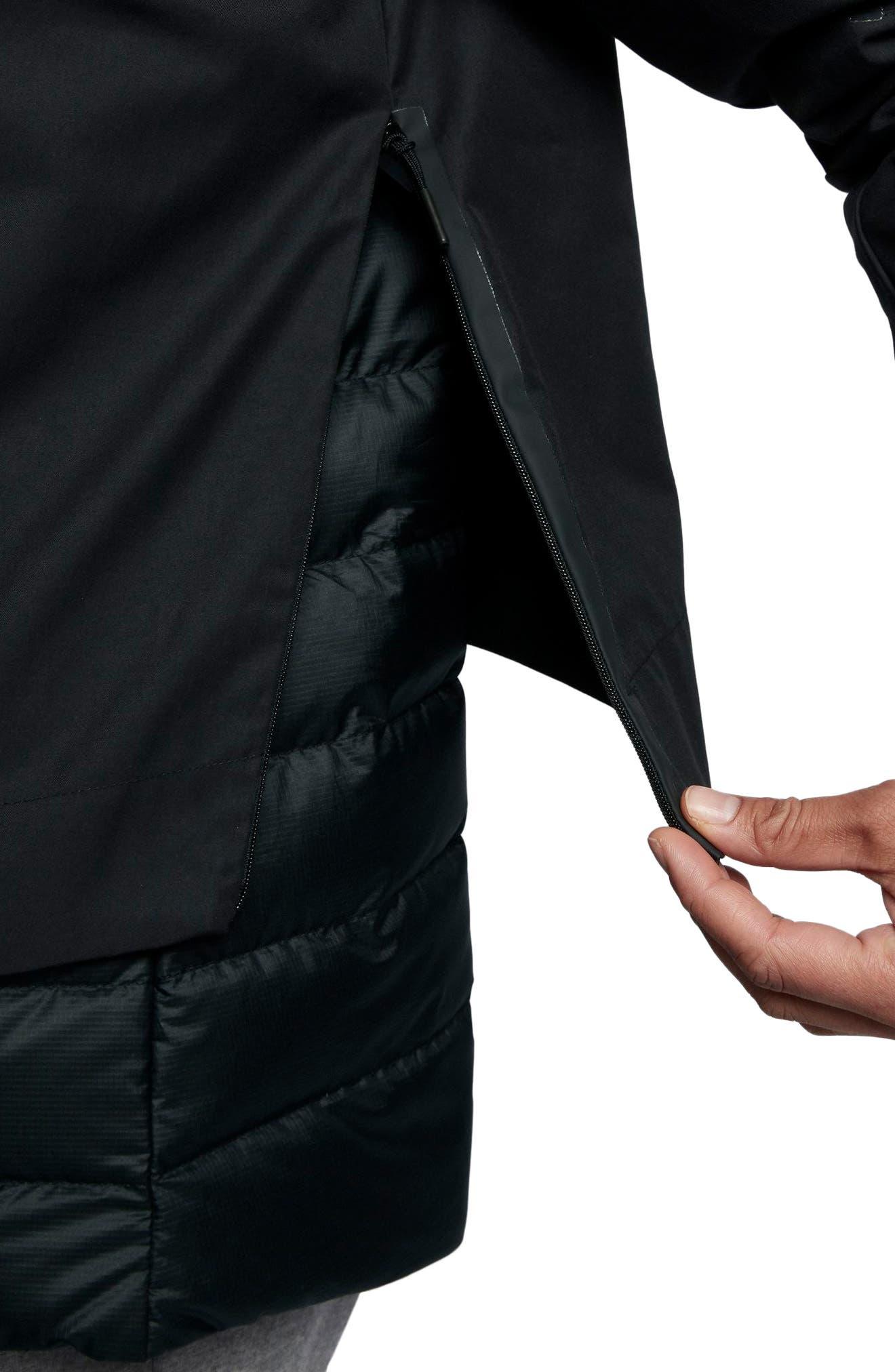 Sportswear AeroLoft 3-in-1 Down Jacket,                             Alternate thumbnail 10, color,                             Black/ Black/ Black