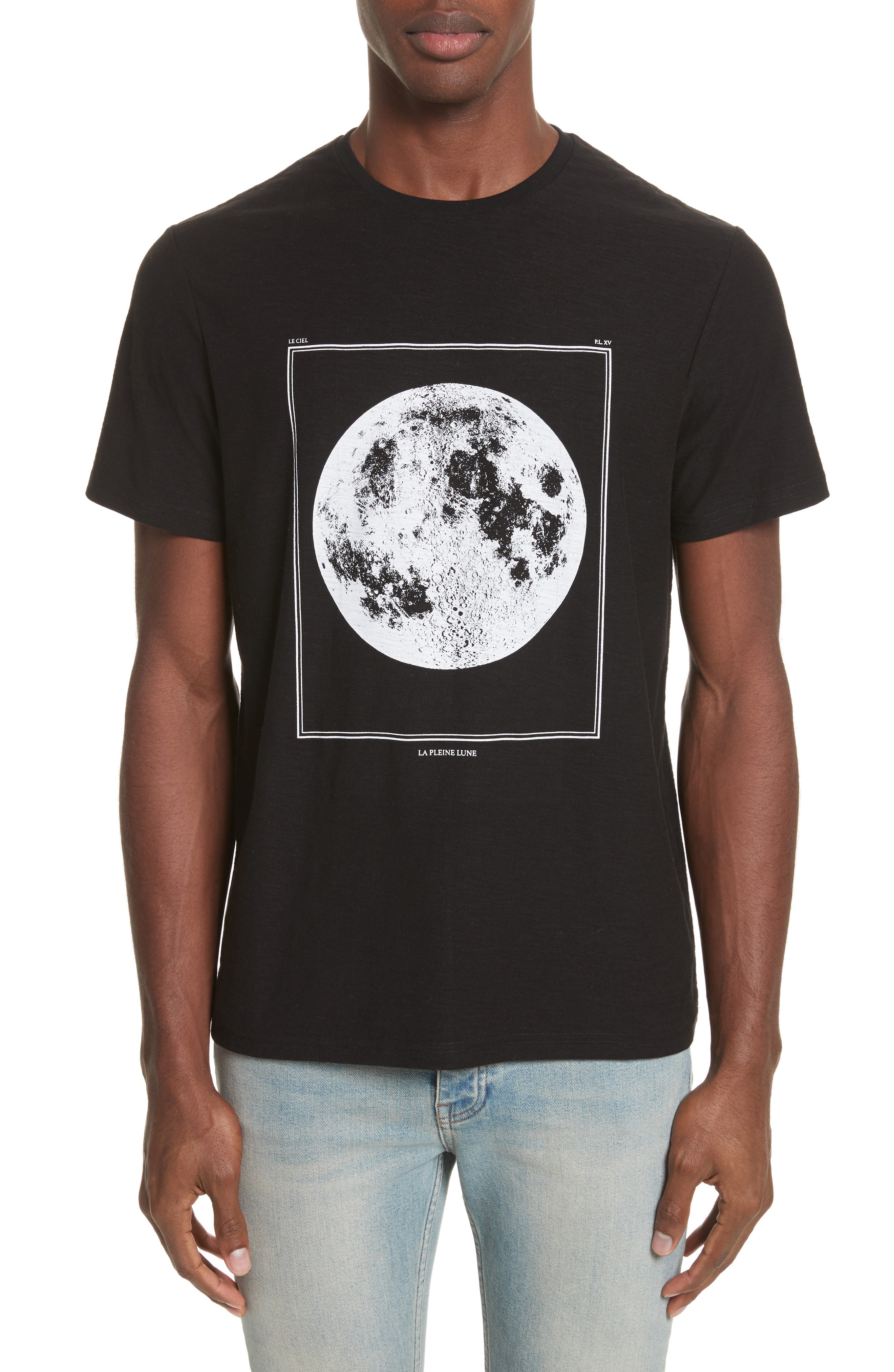 Full Moon Graphic T-Shirt,                             Main thumbnail 1, color,                             Black