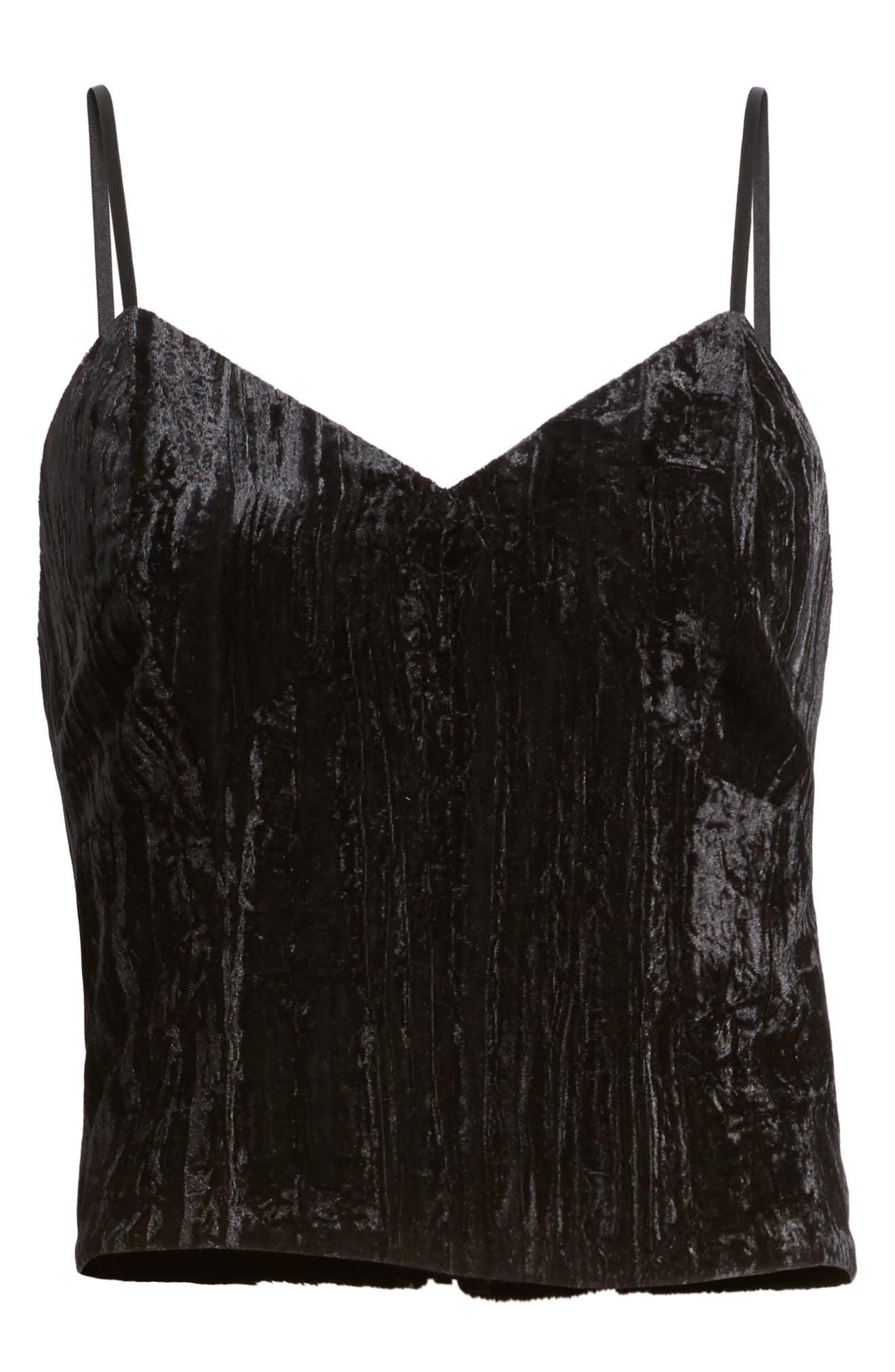 Alternate Image 6  - Trouvé Smocked Velvet Camisole