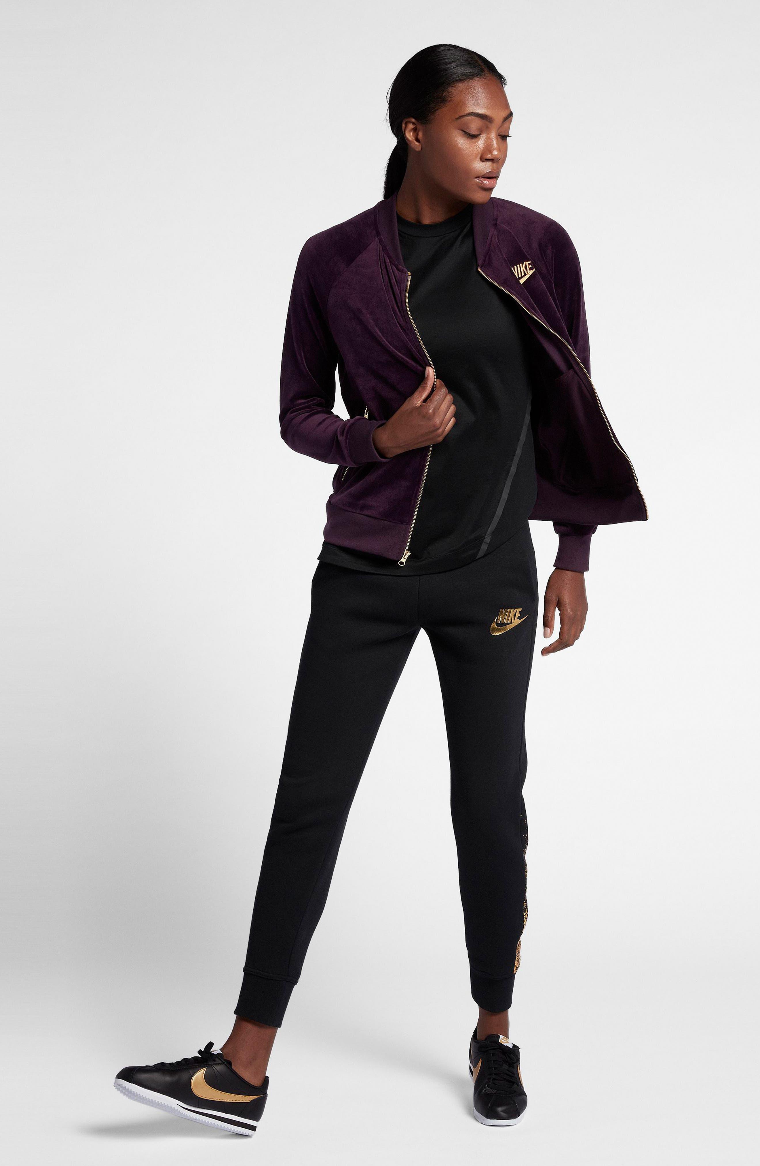 Alternate Image 6  - Nike Velour Jacket