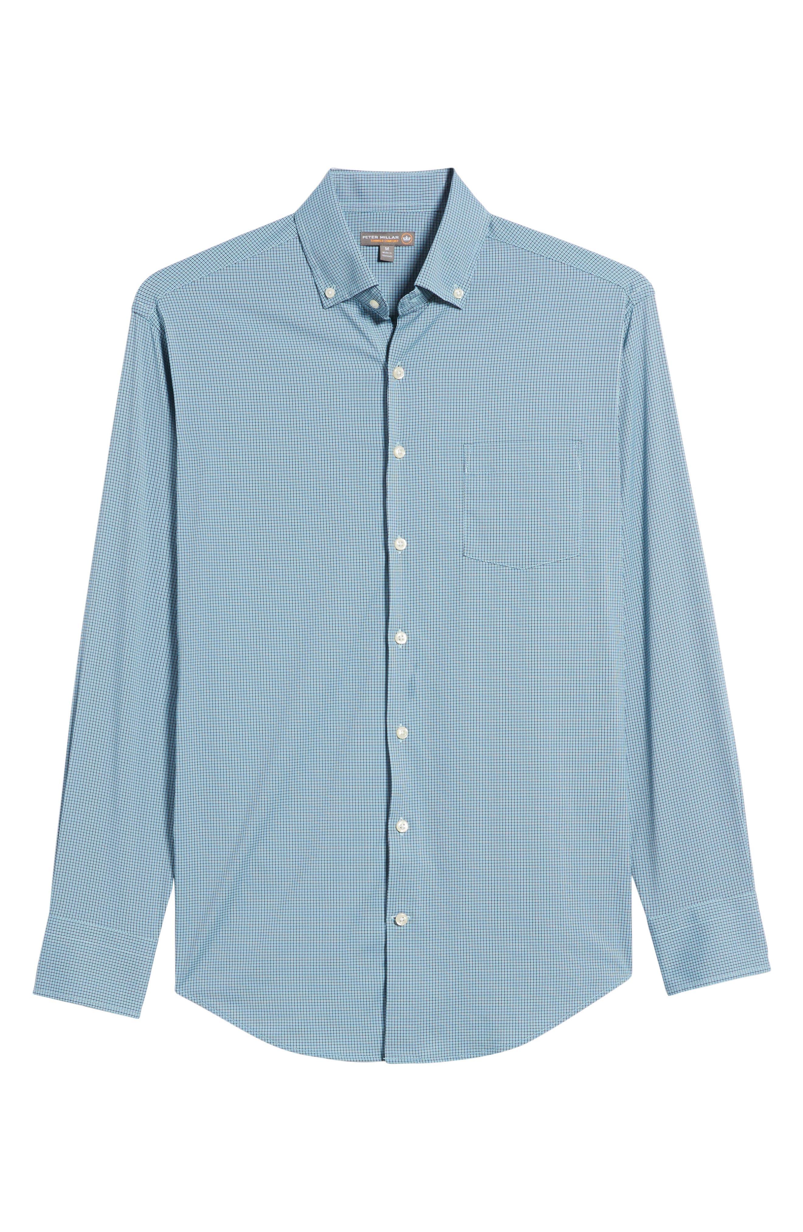 Parsons Regular Fit Performance Sport Shirt,                             Alternate thumbnail 6, color,                             Grotto Blue