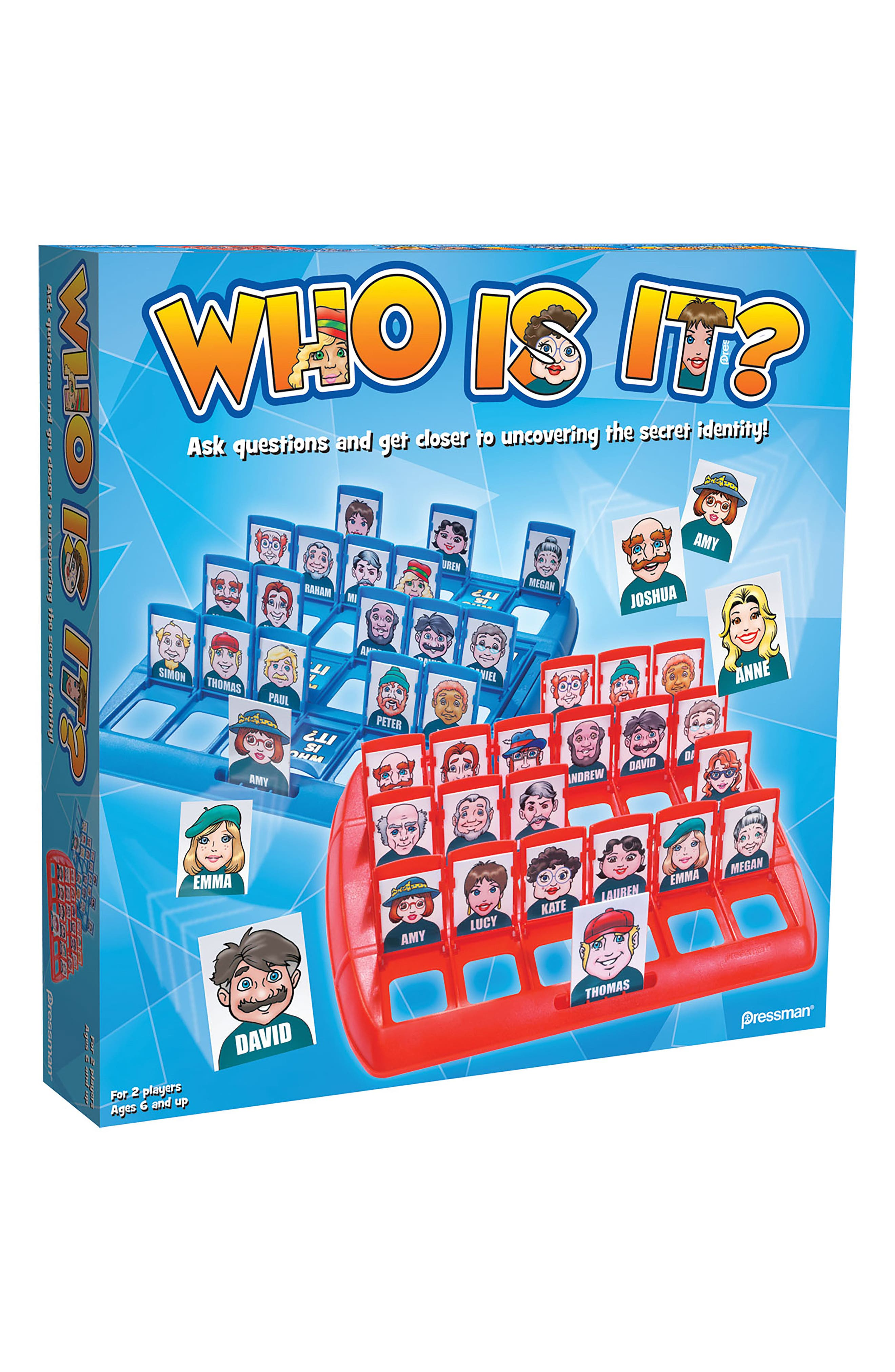 Who Is it? Game,                         Main,                         color, Red