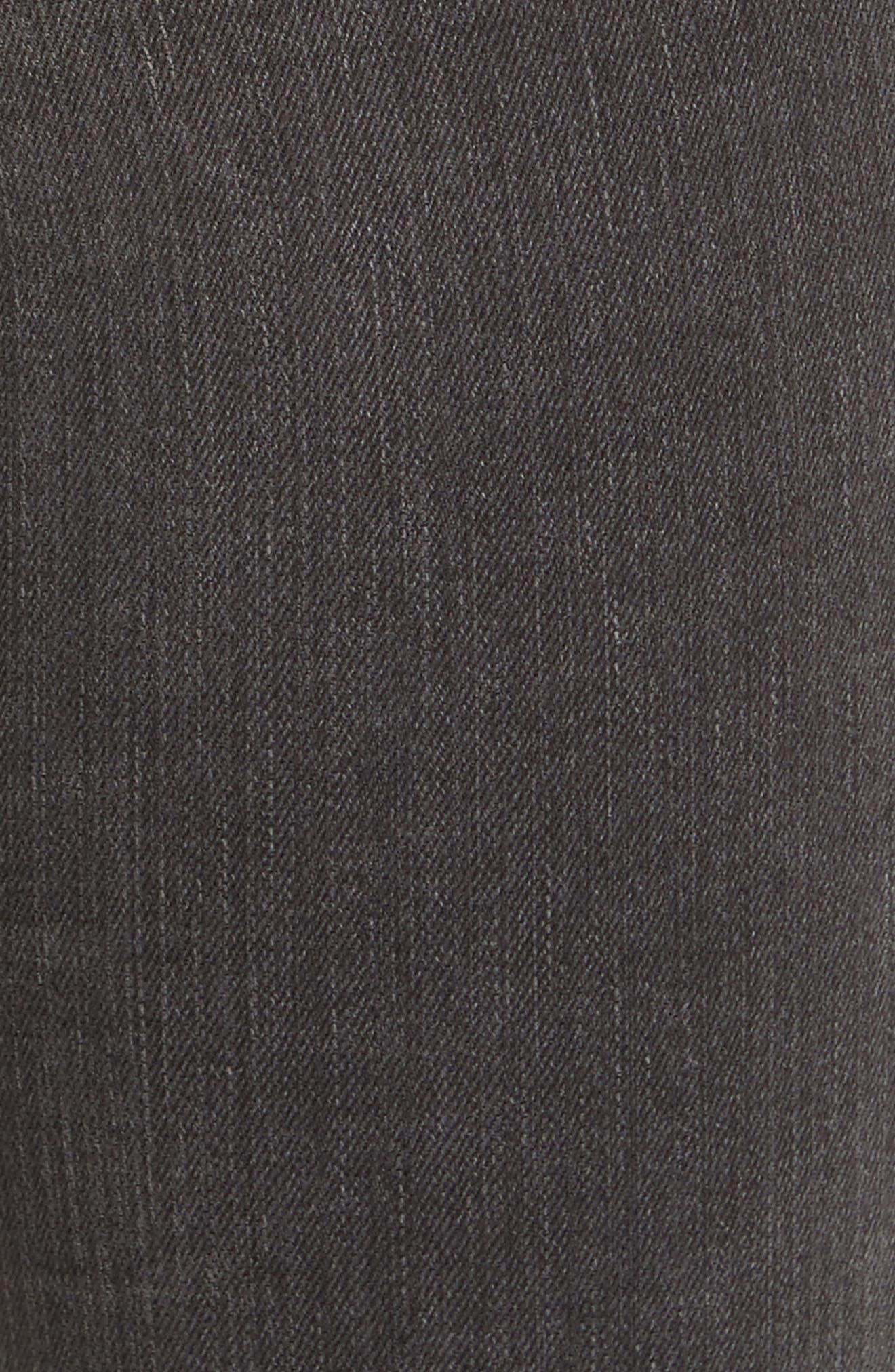 Crop Straight Leg Jeans,                             Alternate thumbnail 5, color,                             Black