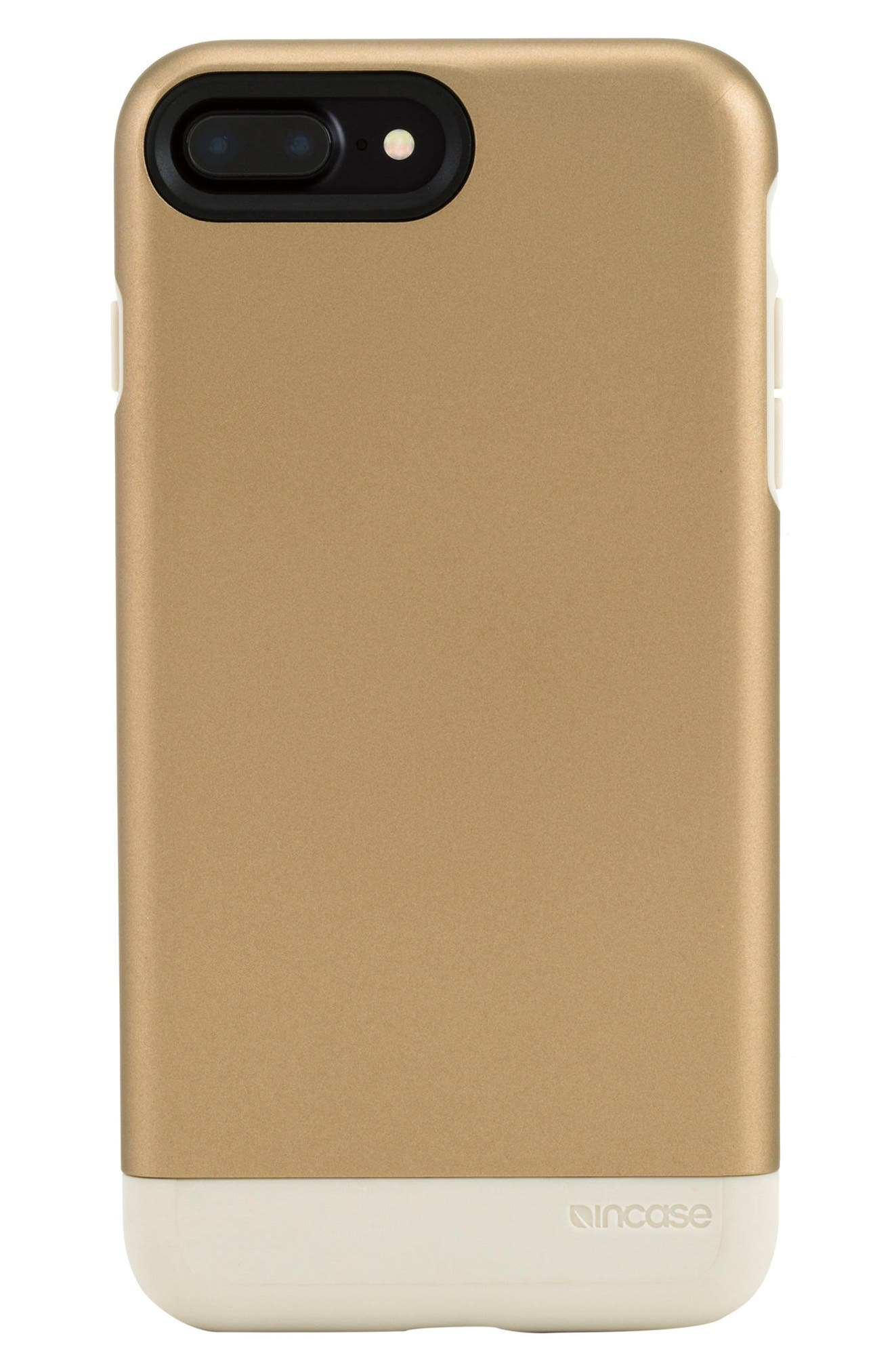 iPhone 7 Plus/8 Plus Case,                             Main thumbnail 1, color,                             Gold